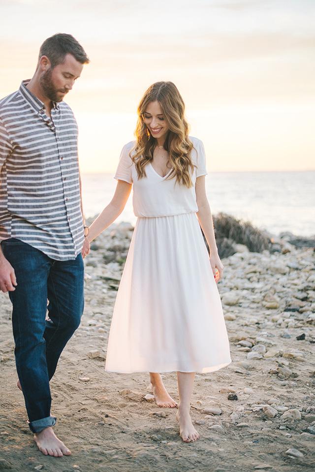 elegant beach couple shoot