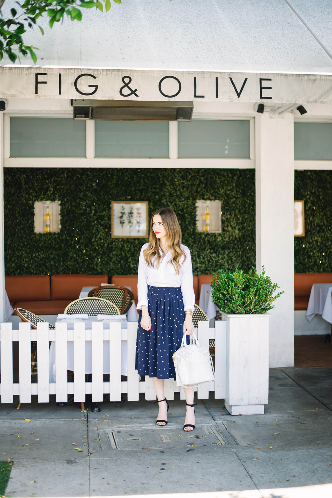 Lunch at Fig & Olive melrose place