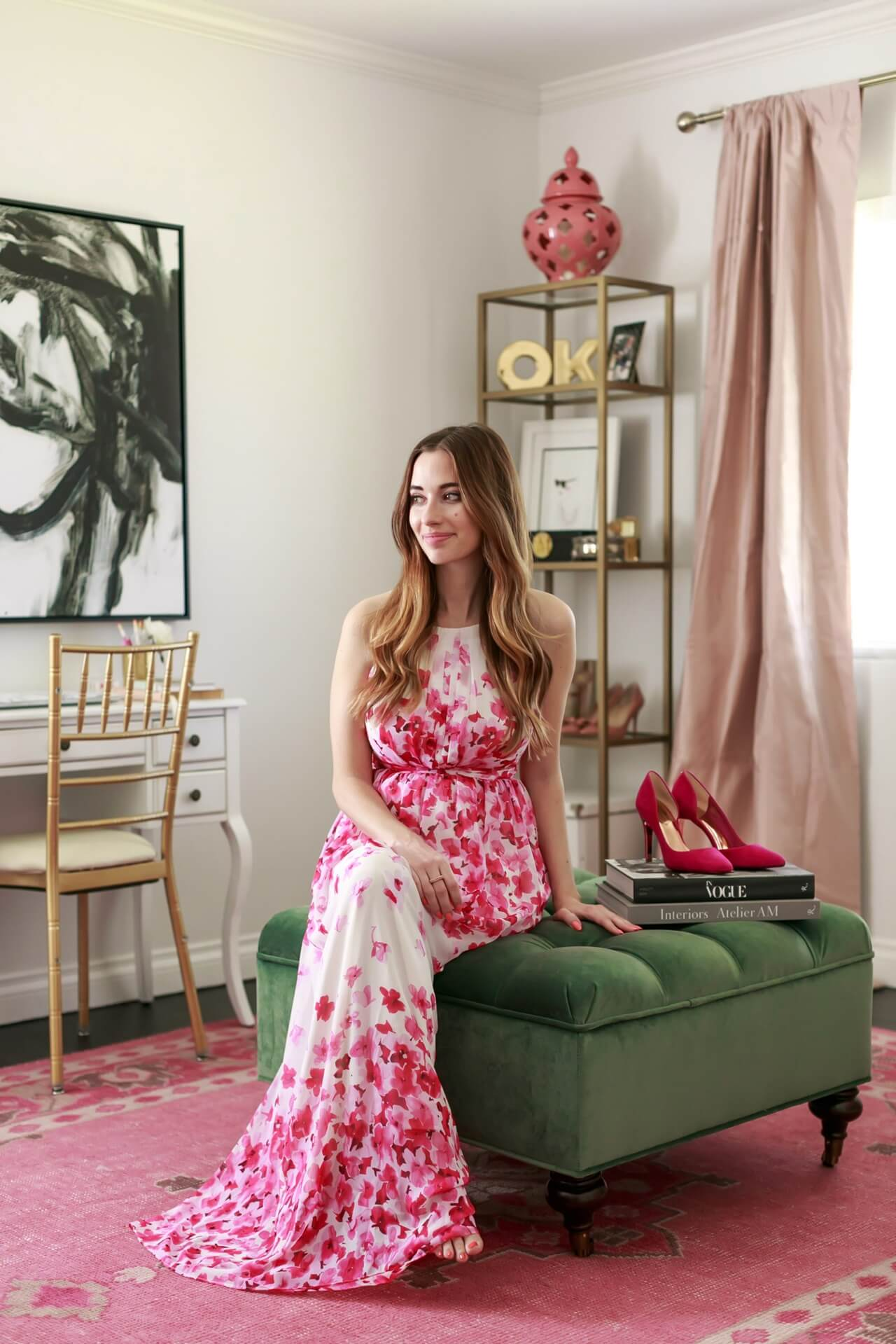 Mara Ferreira of M Loves M's feminine home office