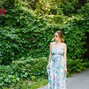 floral halter dress that you can wear to summer events and parties