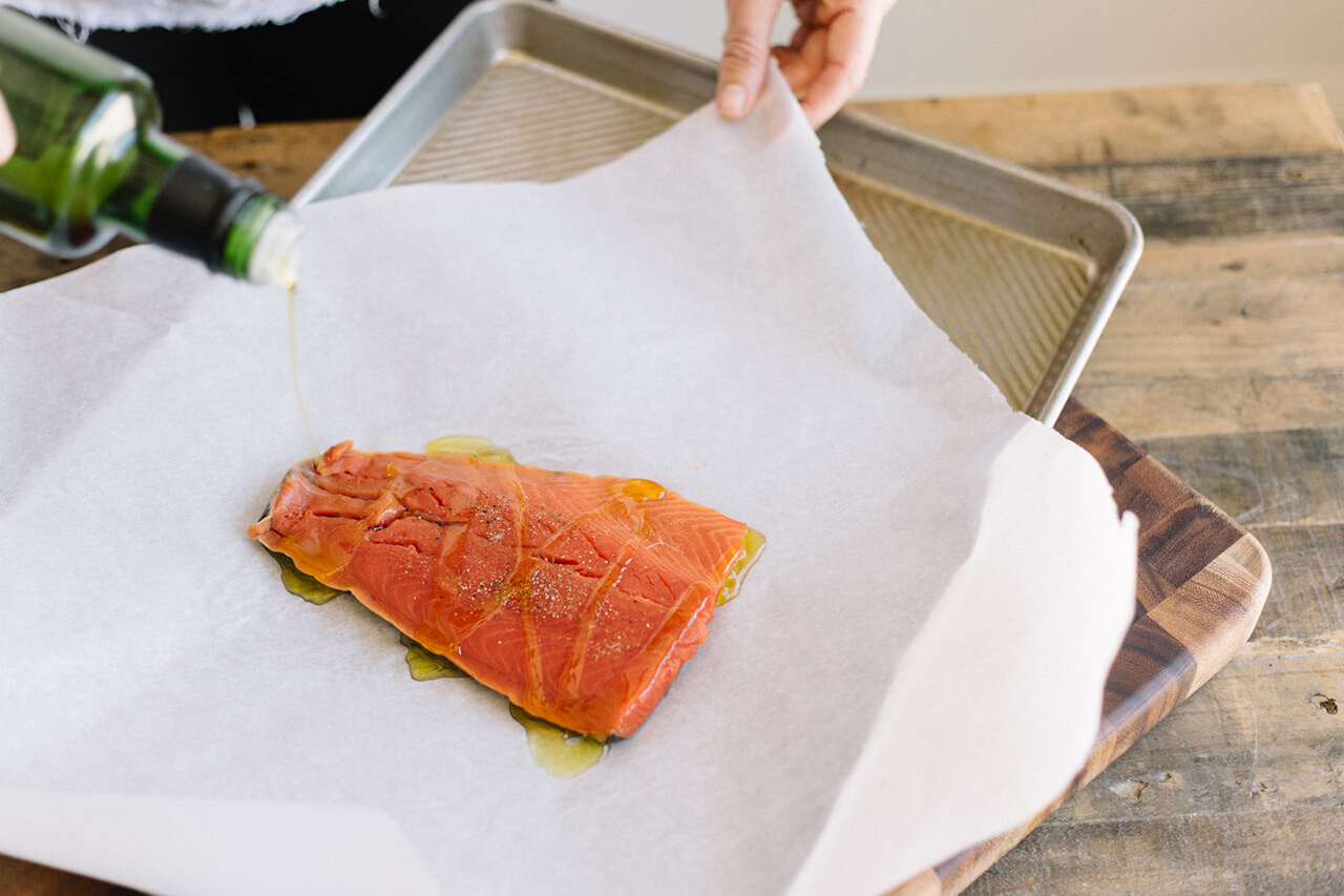 an easy, no mess way to cook salmon
