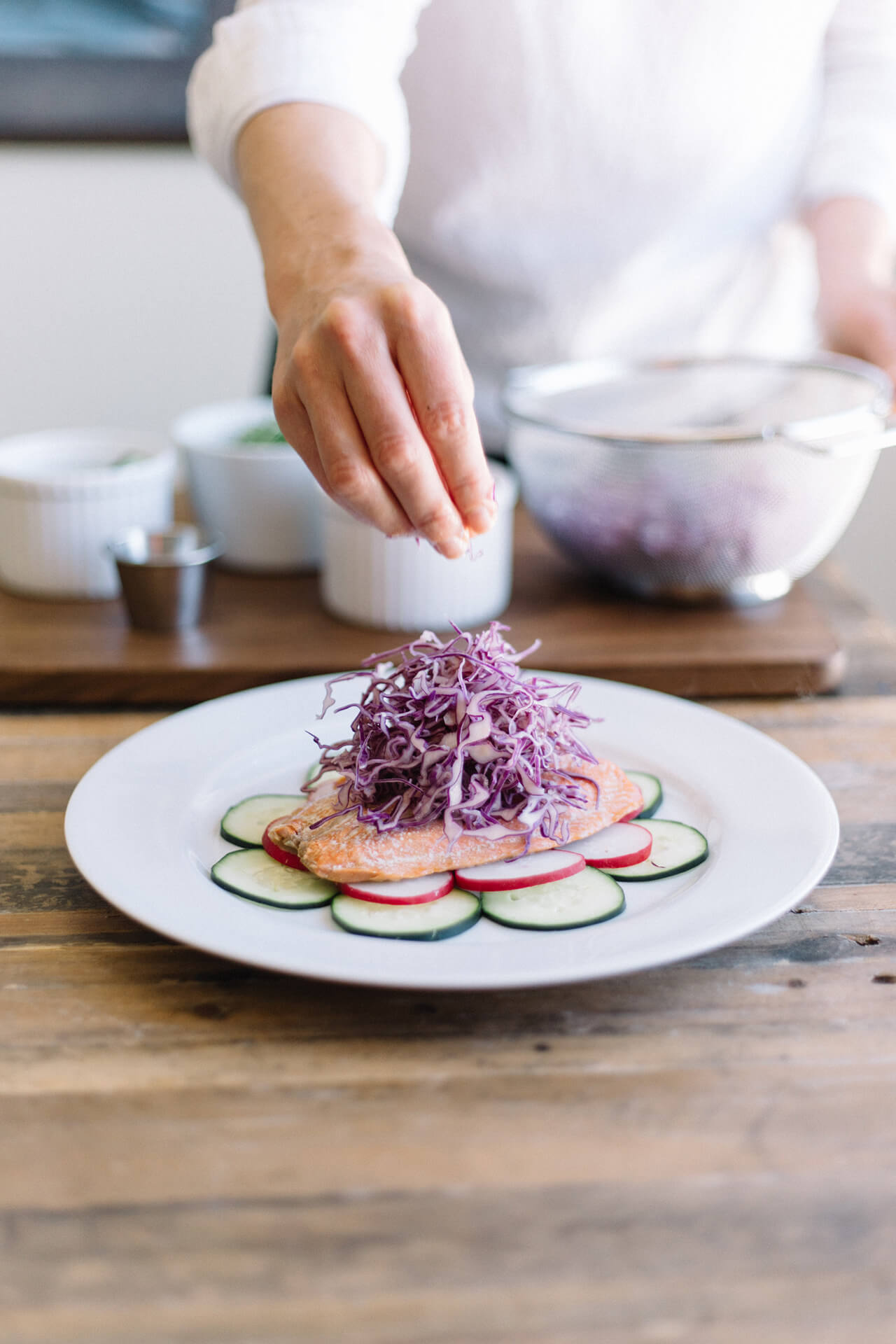 salmon as a pregnancy superfood plus a delicious recipe for roasted salmon with lemon aioli and slaw