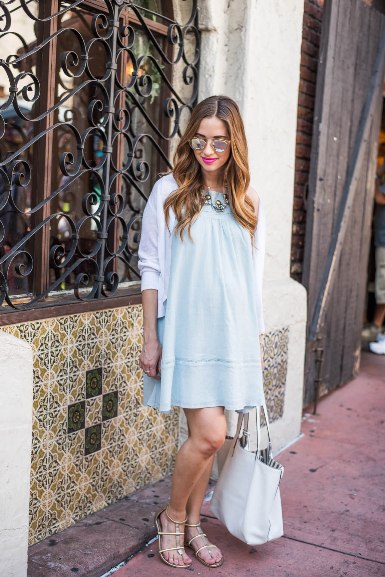 a pretty light blue sundress for summer
