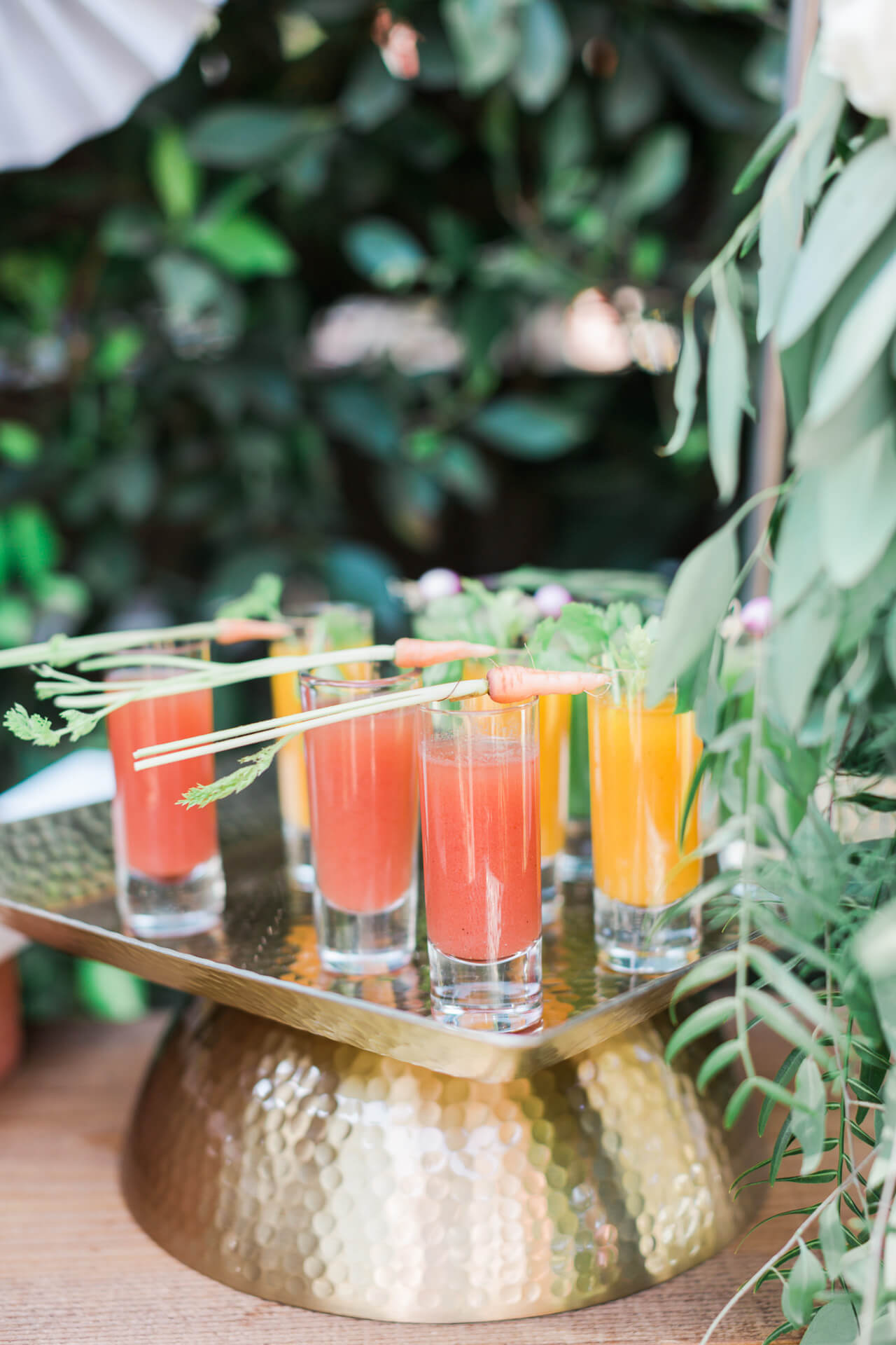 ombre bloody mary station at baby shower