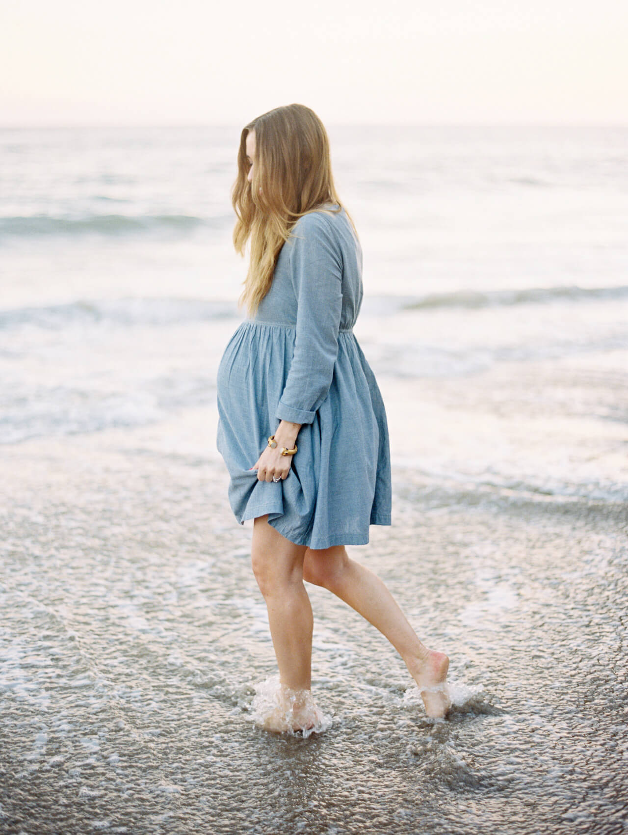 blue chambray asos dress