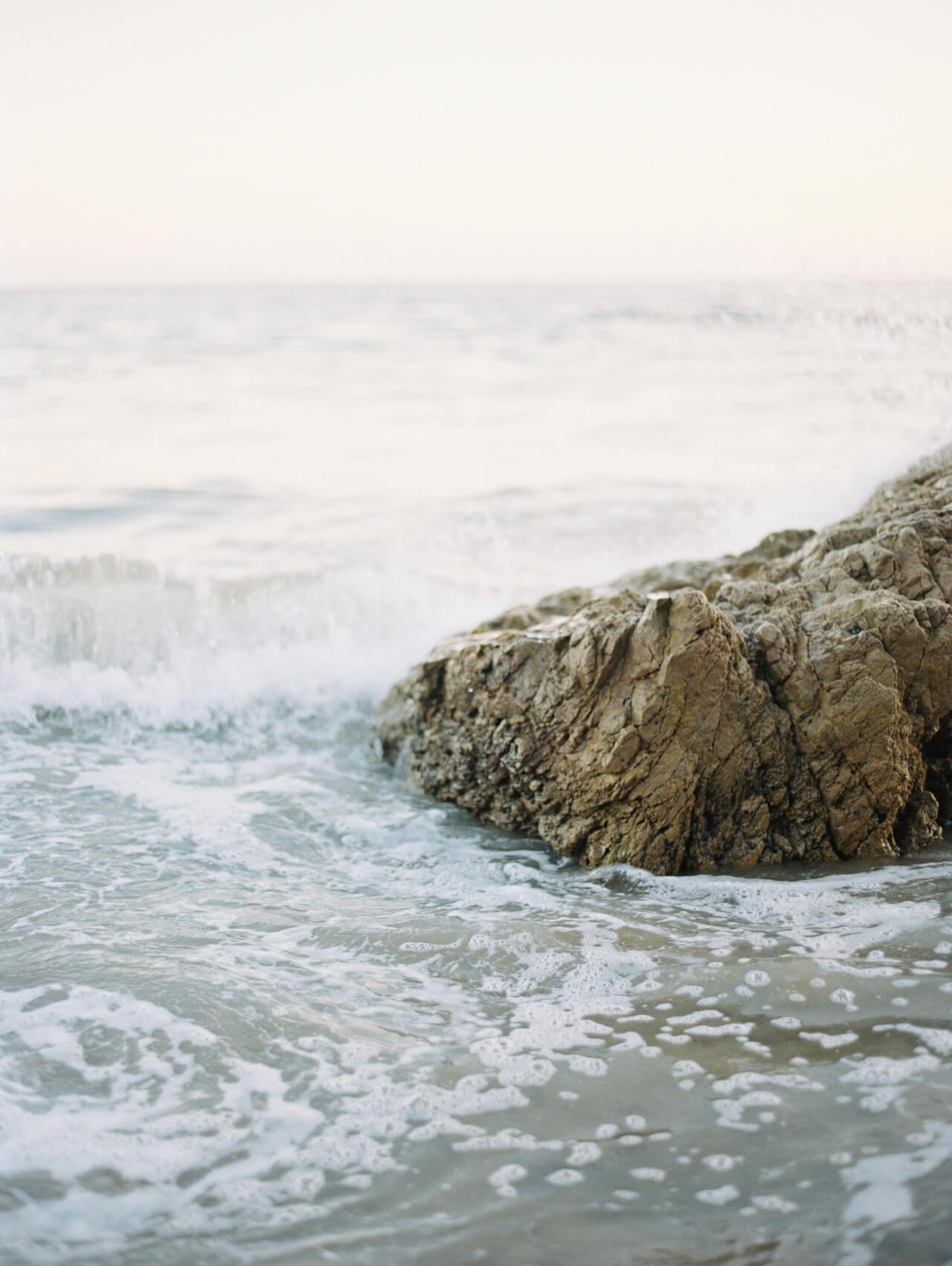 rocks at Malibu beach