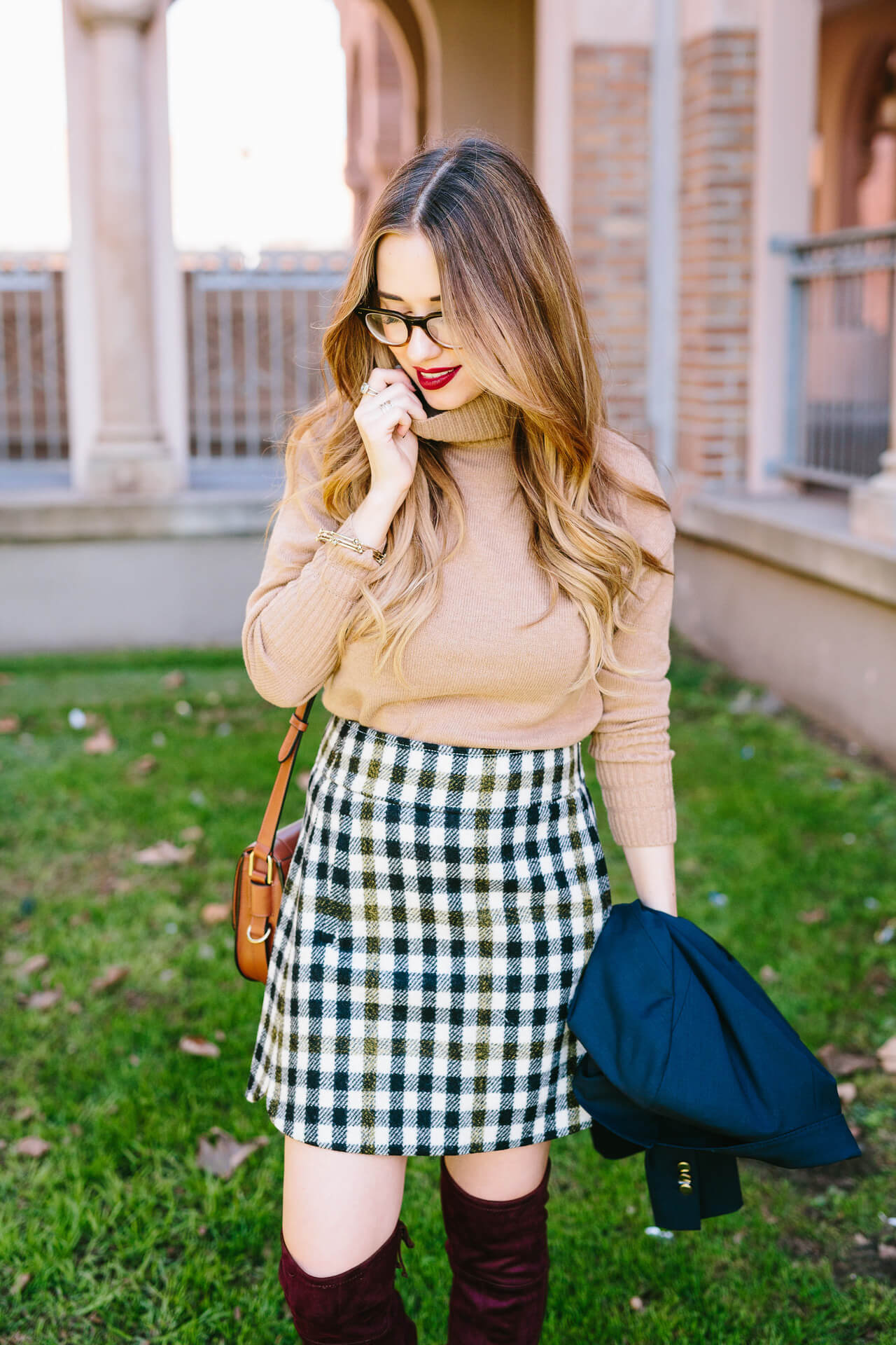 a classic and preppy fall outfit