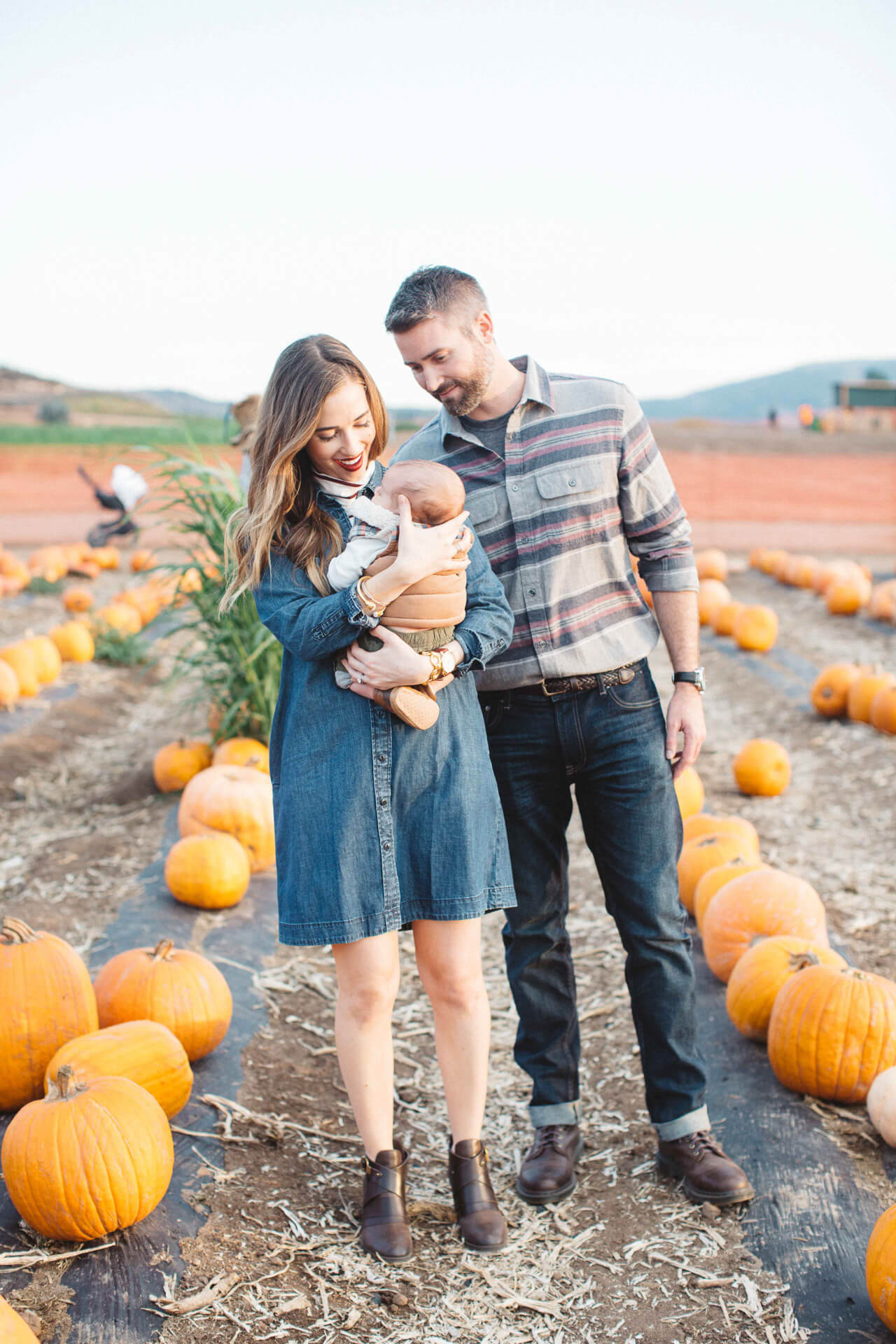 family shoot at the pumpkin patch