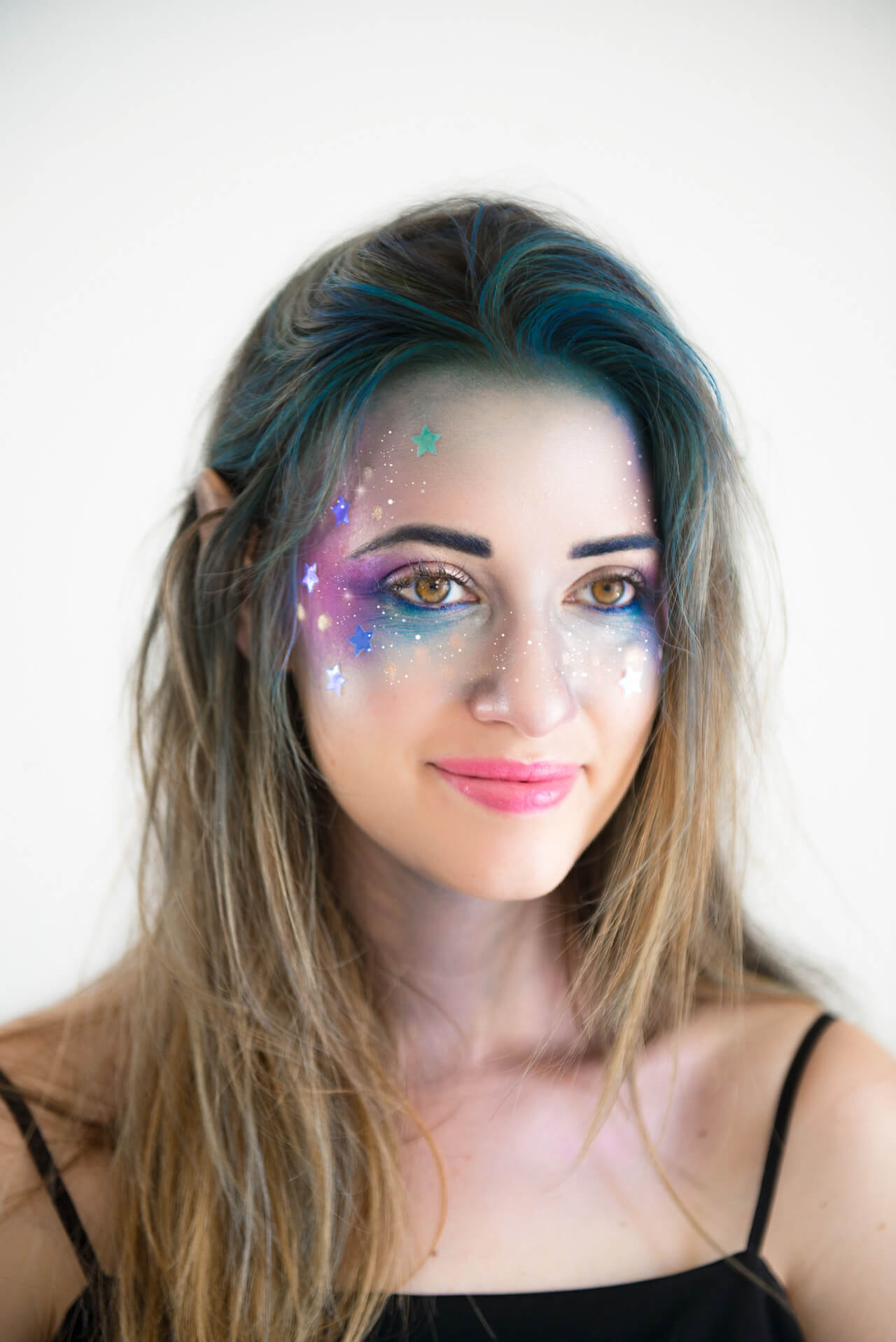 Galaxy Girl Makeup Tutorial that's perfect for halloween