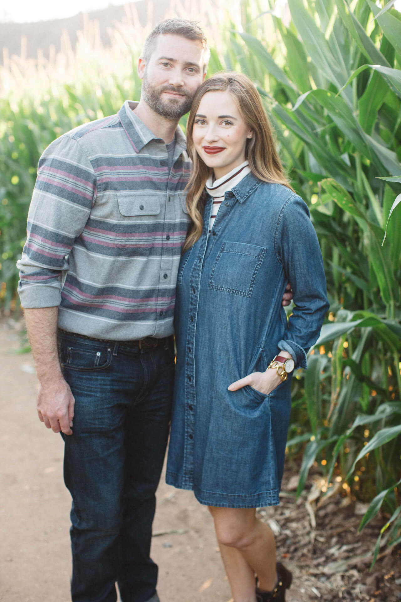 Mara and Matthew at the corn maze