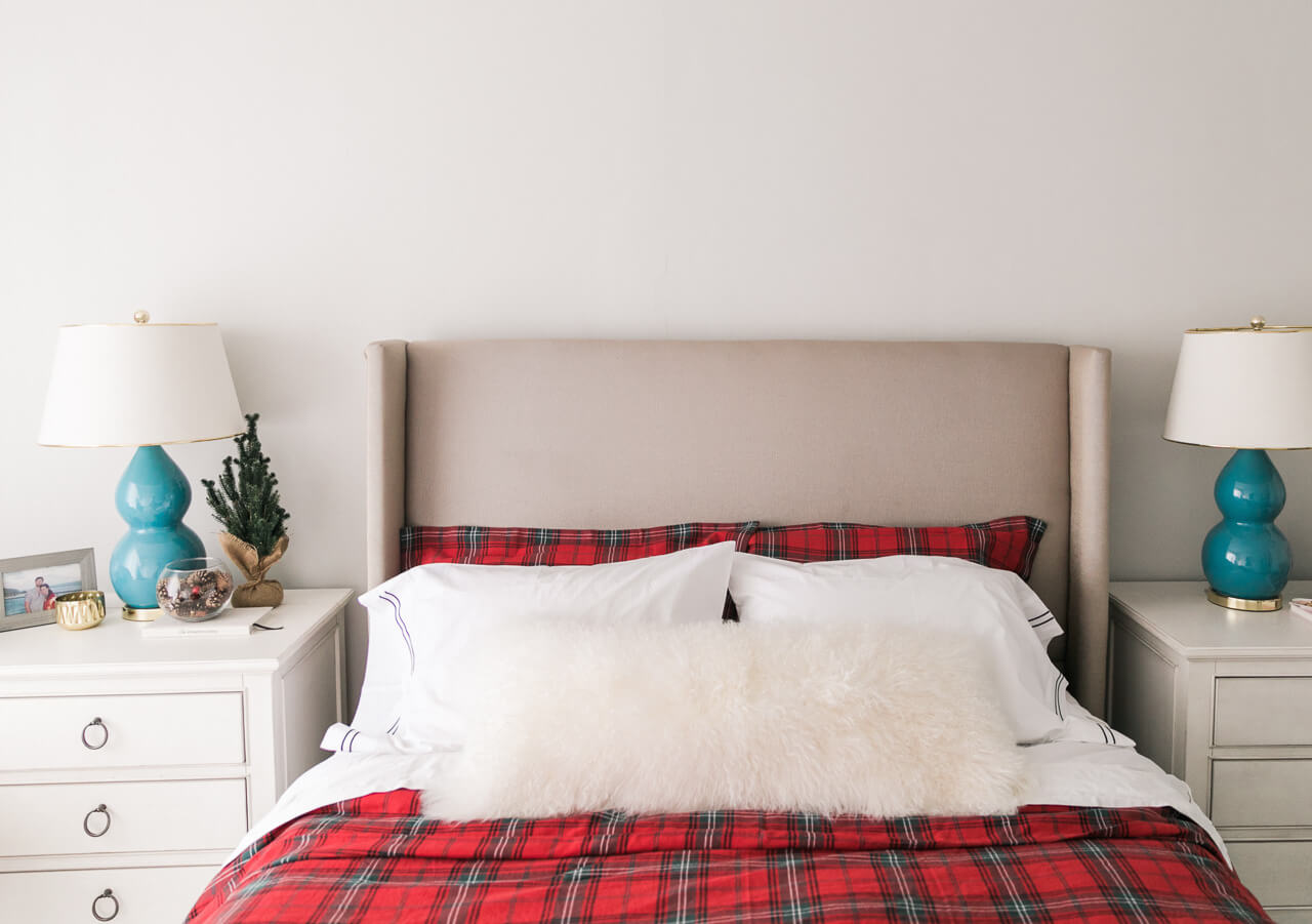 holiday plaid bedding
