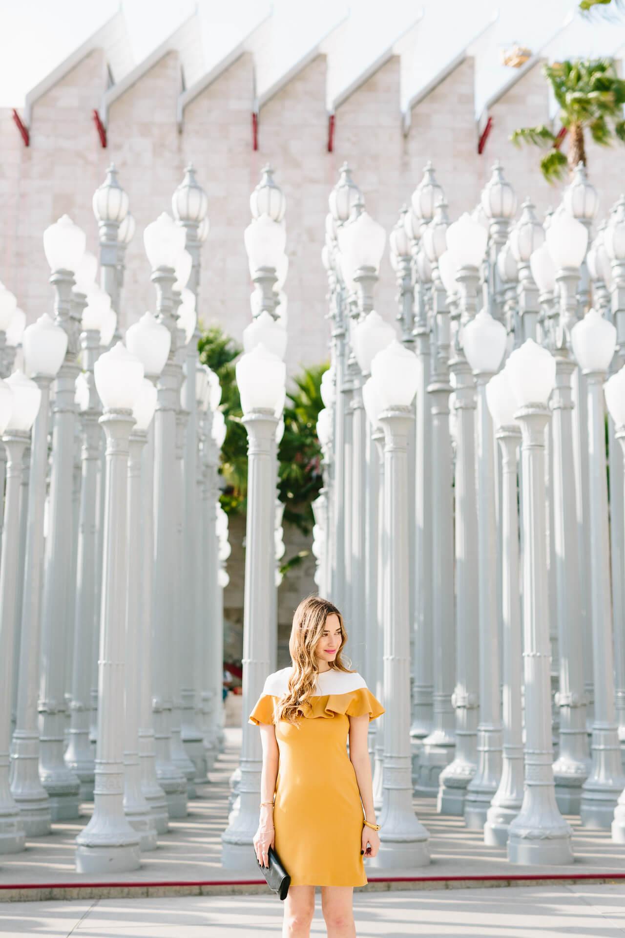 Los Angeles Blogger at LACMA Urban Lights Exhibit