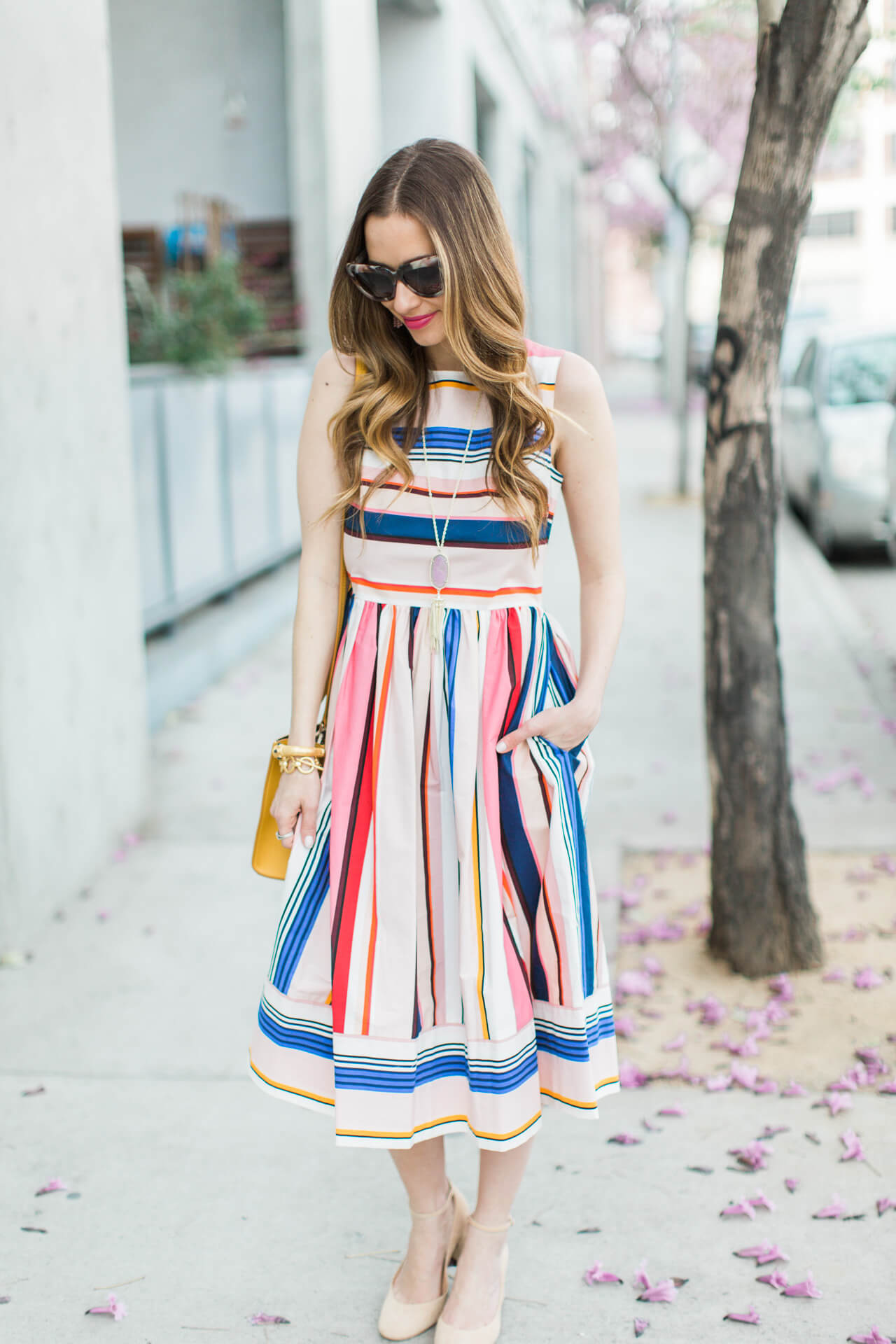 the prettiest striped dress for spring from kate spade's spring 2017 collection
