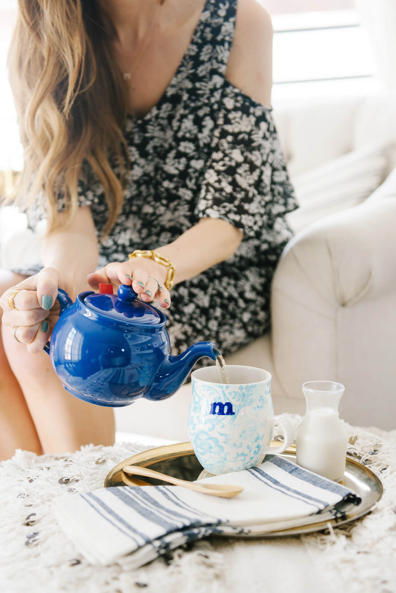 try drinking tea instead of coffee in the mornings