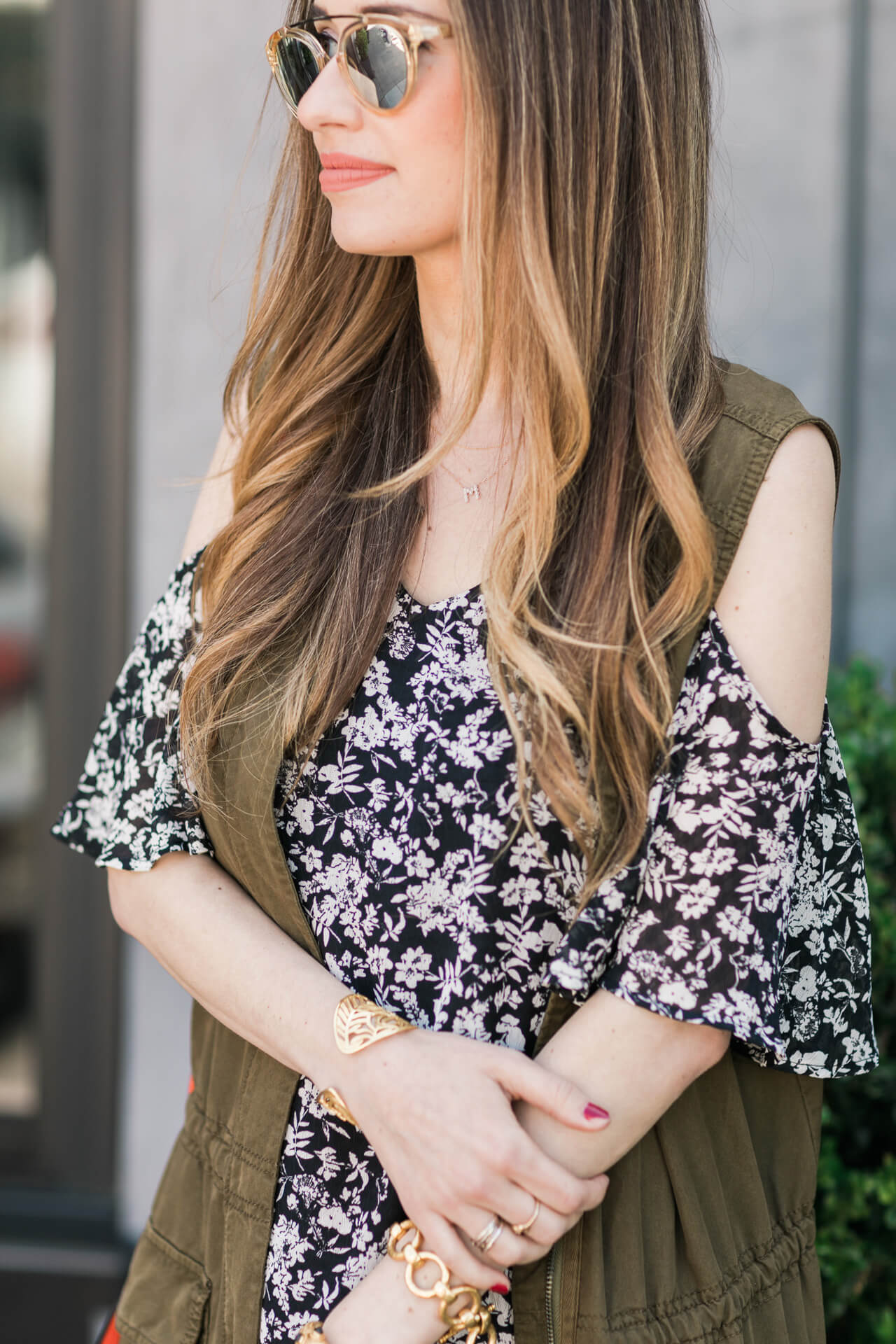 layered spring outfit