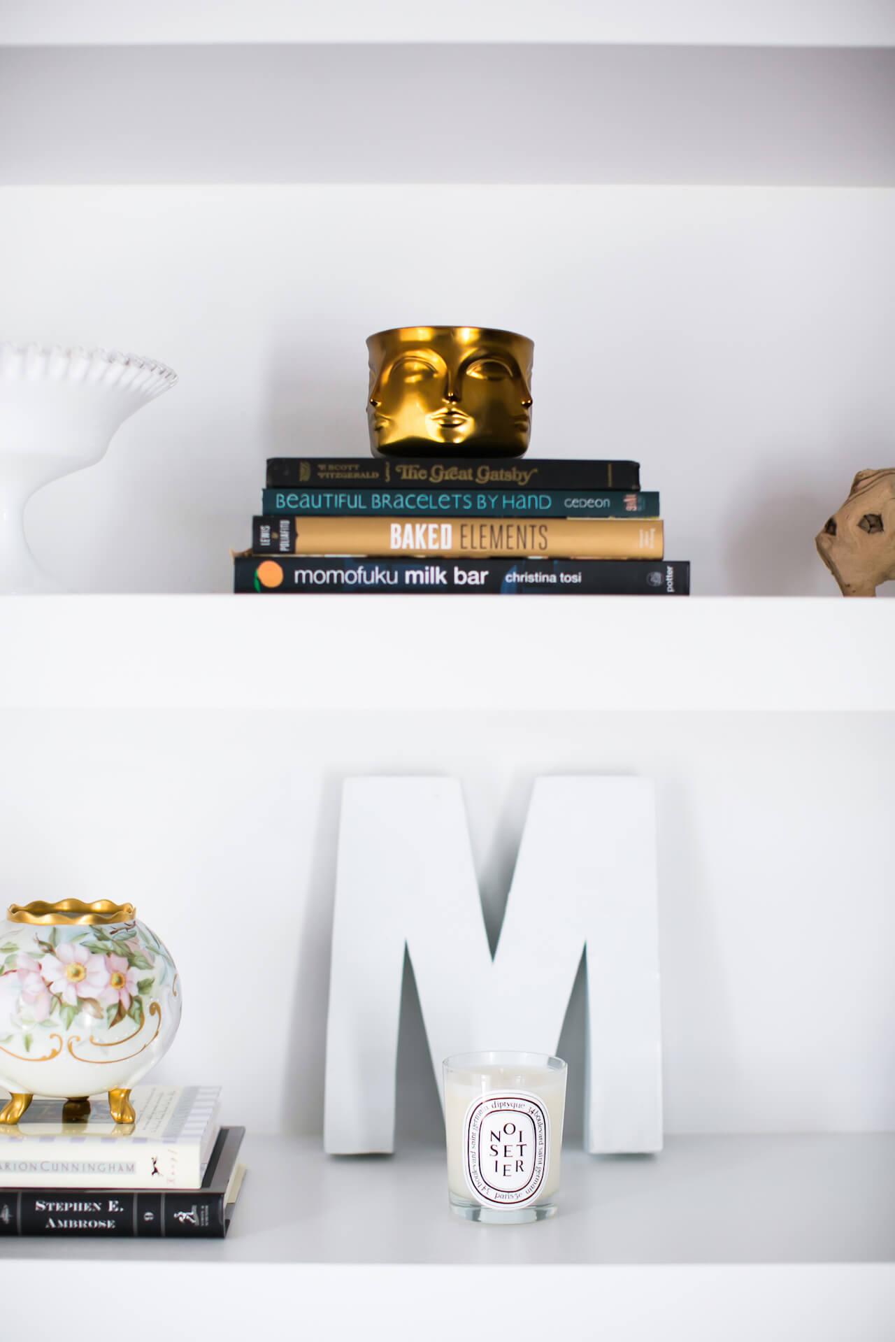 shelf styling - shelfie - M Loves M