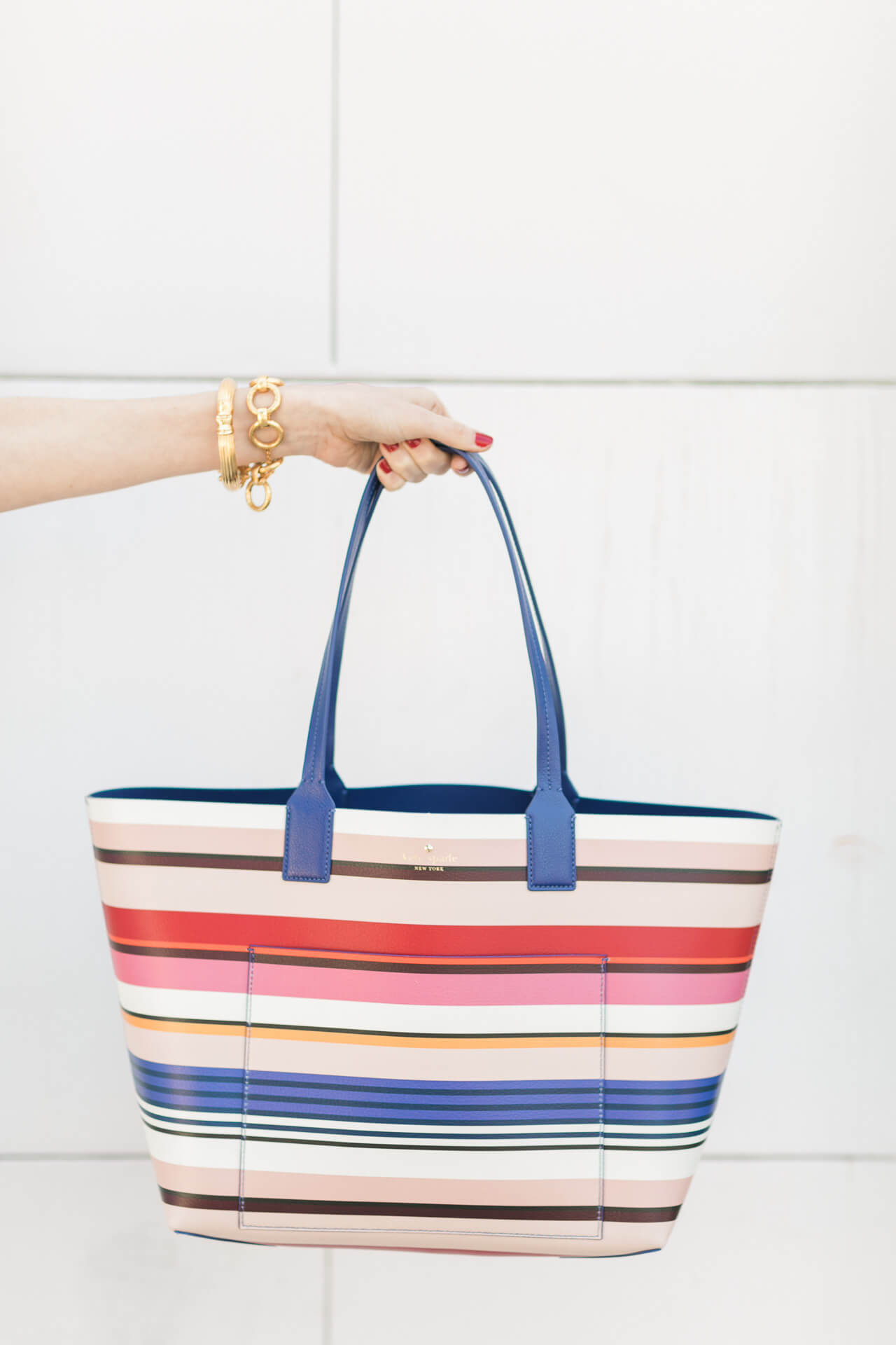 love love love this striped kate spade tote bag