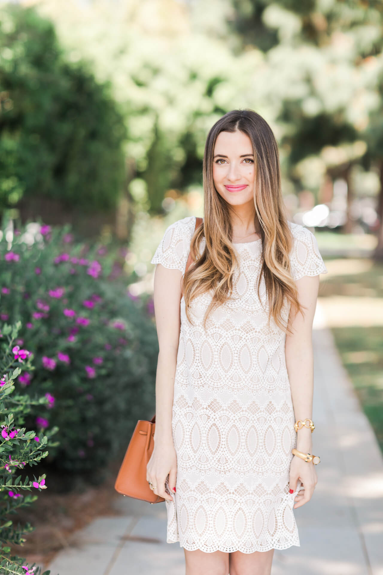 the pretties little white lace dress for spring