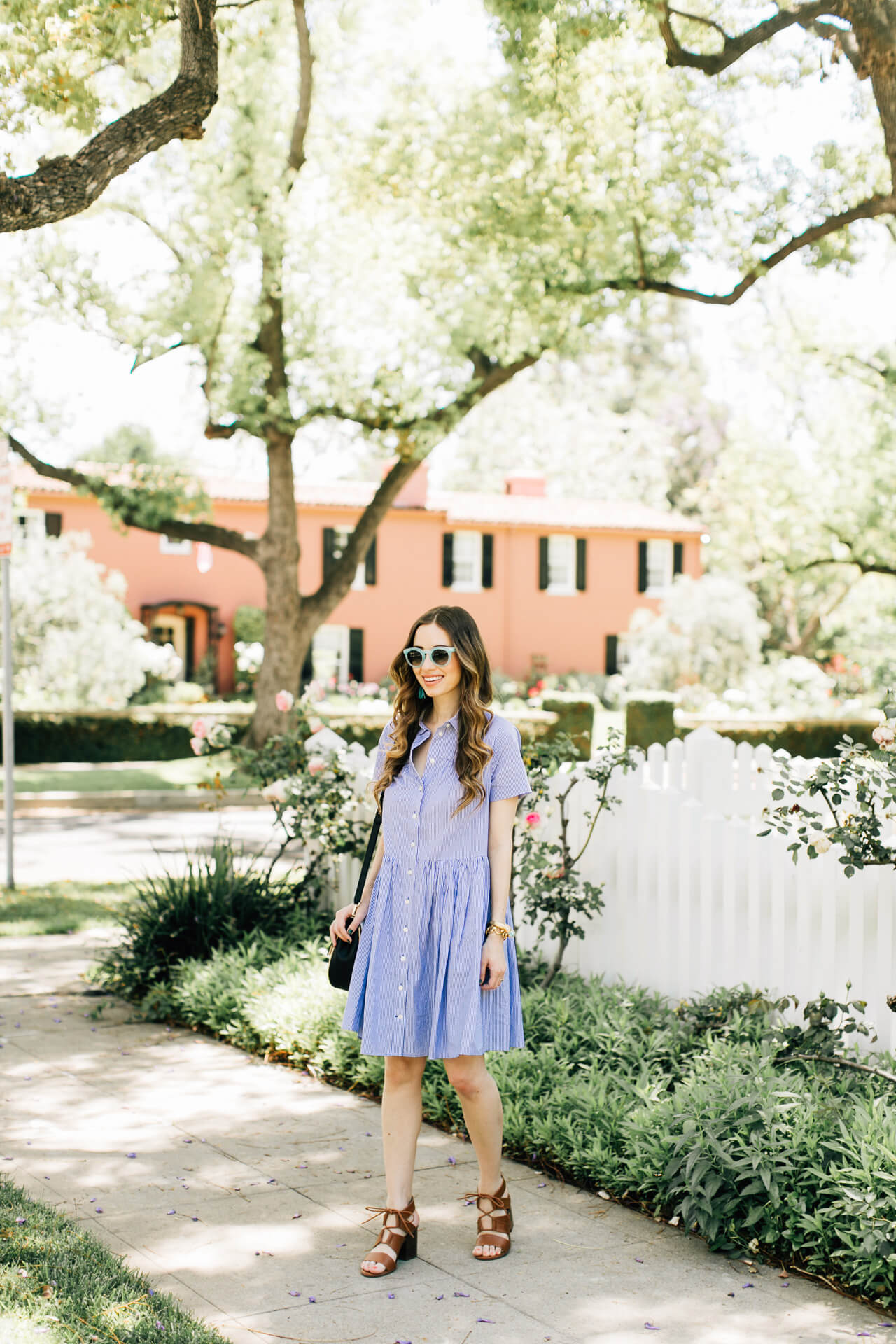 blue shirtdress outfit - perfect for spring!