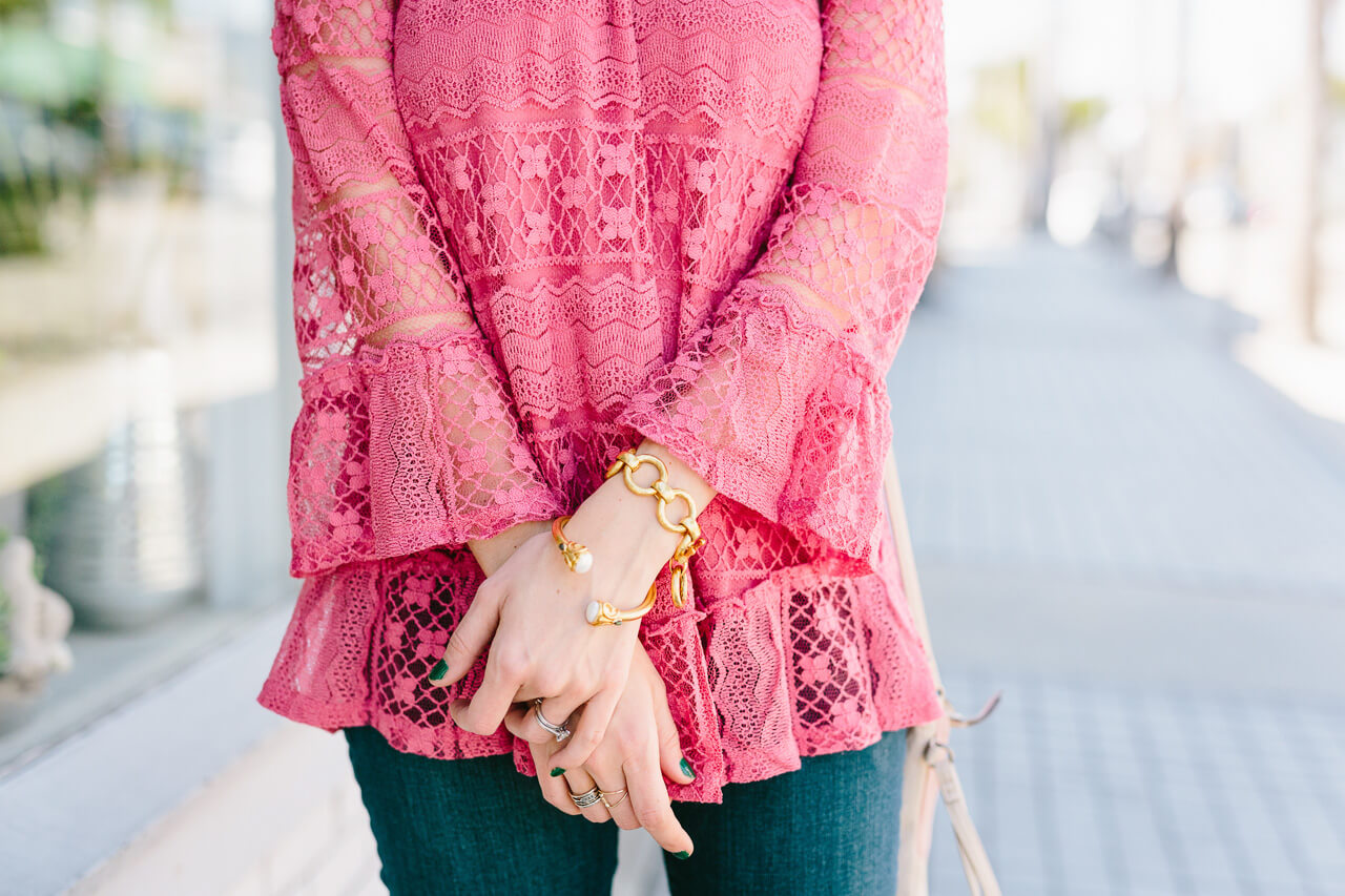love this pink lace blouse from style and co spring 2017
