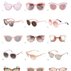 must-have rose-colored sunglasses for spring 2017 - M Loves M @marmar