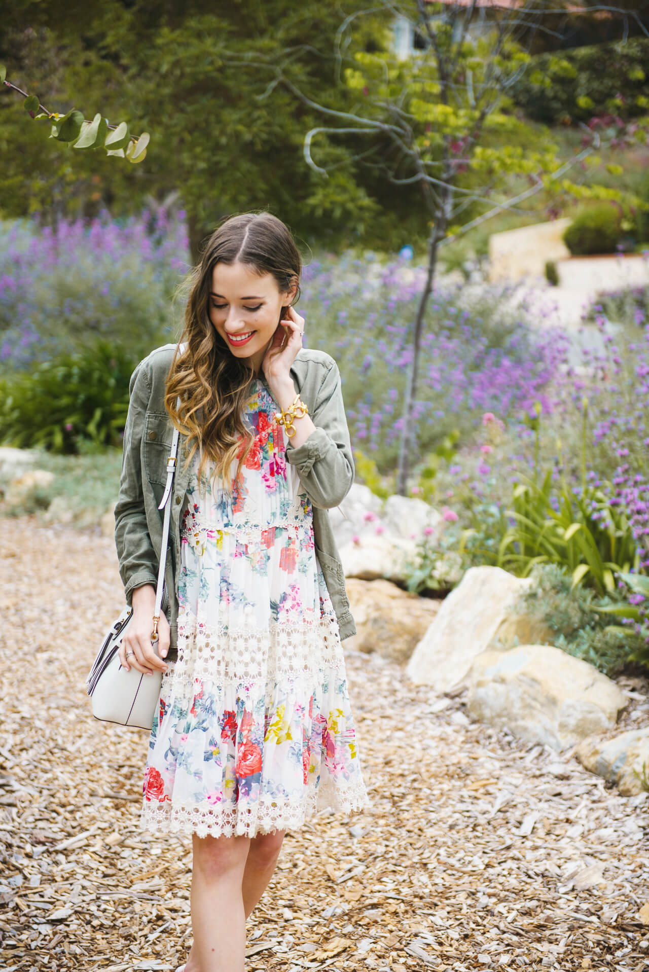 love this floral dress and jacket from anthropologie- M Loves M @marmar