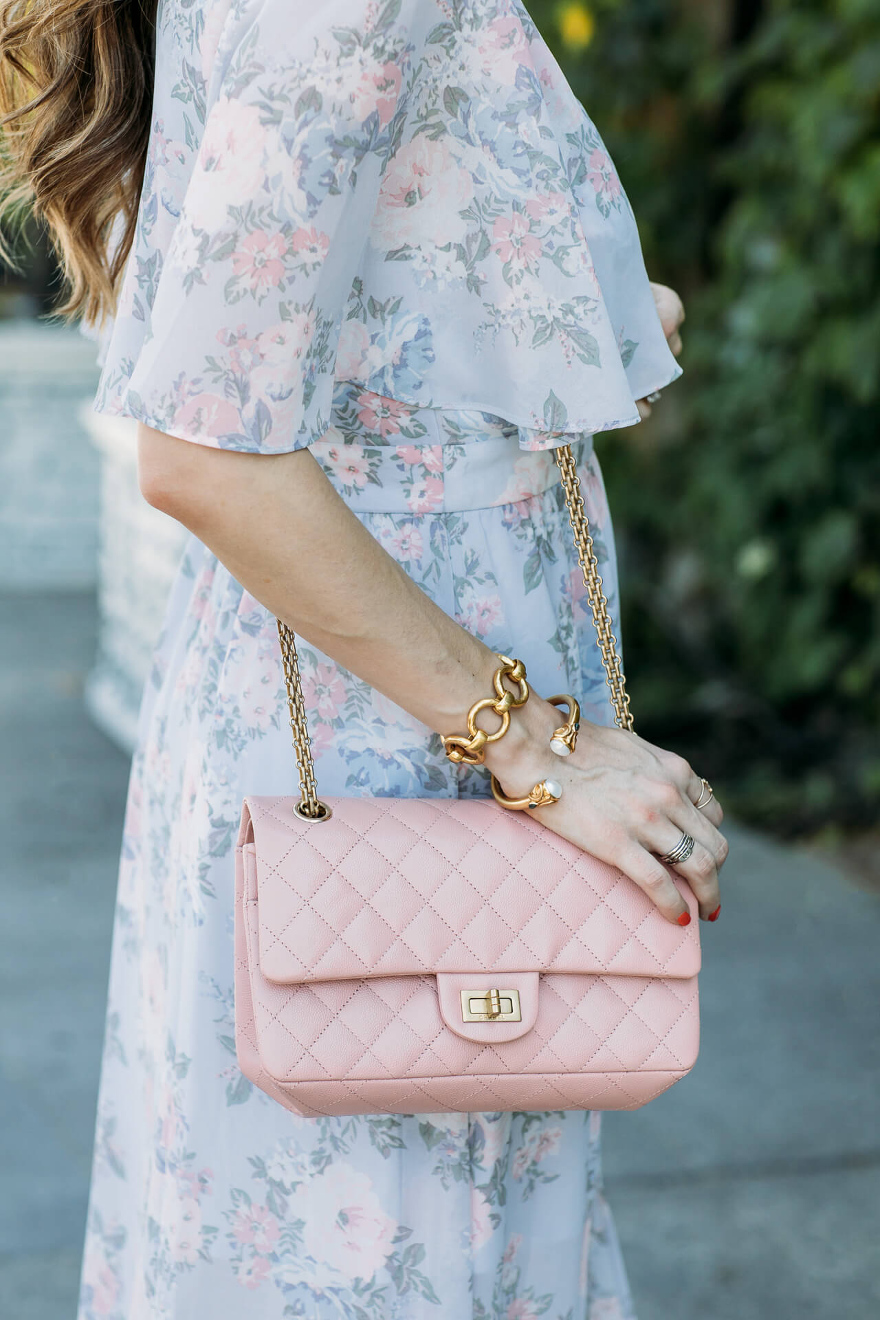 featuring my new pink chanel bag with this floral maxi - M Loves M @marmar