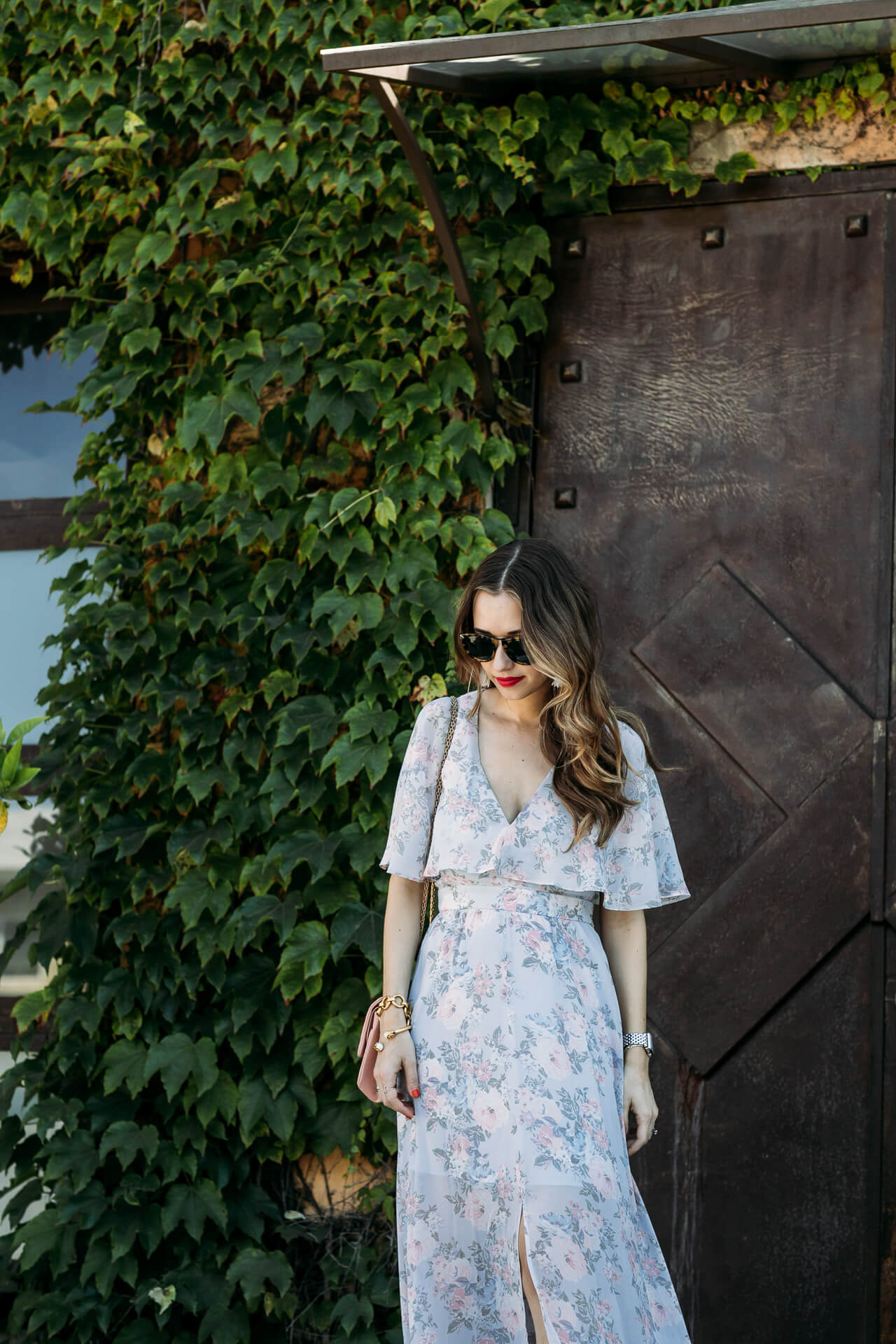 los angeles blogger in beautiful floral maxi - M Loves M @marmar