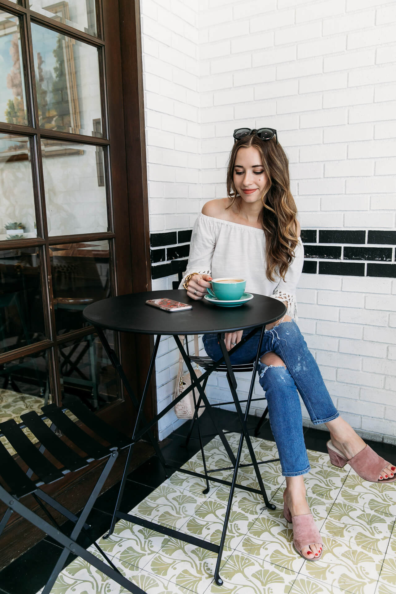 coffee at Alfred's, one of the most instagrammable coffee shops in Los Angeles - M Loves M @marmar