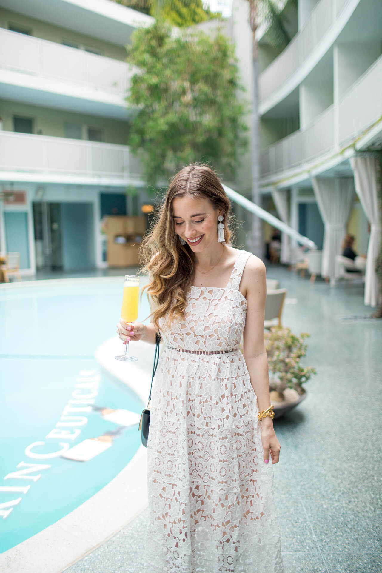 Love this white lace midi dress for Spring -MLovesM @marmar