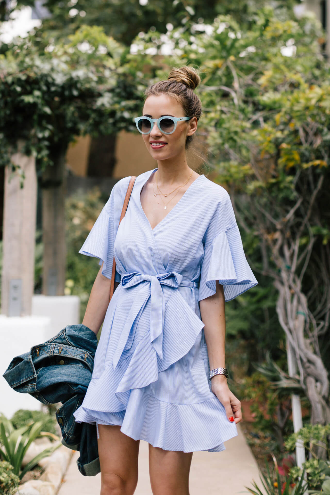styling a wrap dress for summer