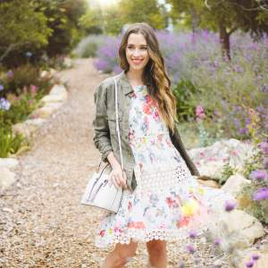 how to style a dress with sneakers for spring - M Loves M @marmar
