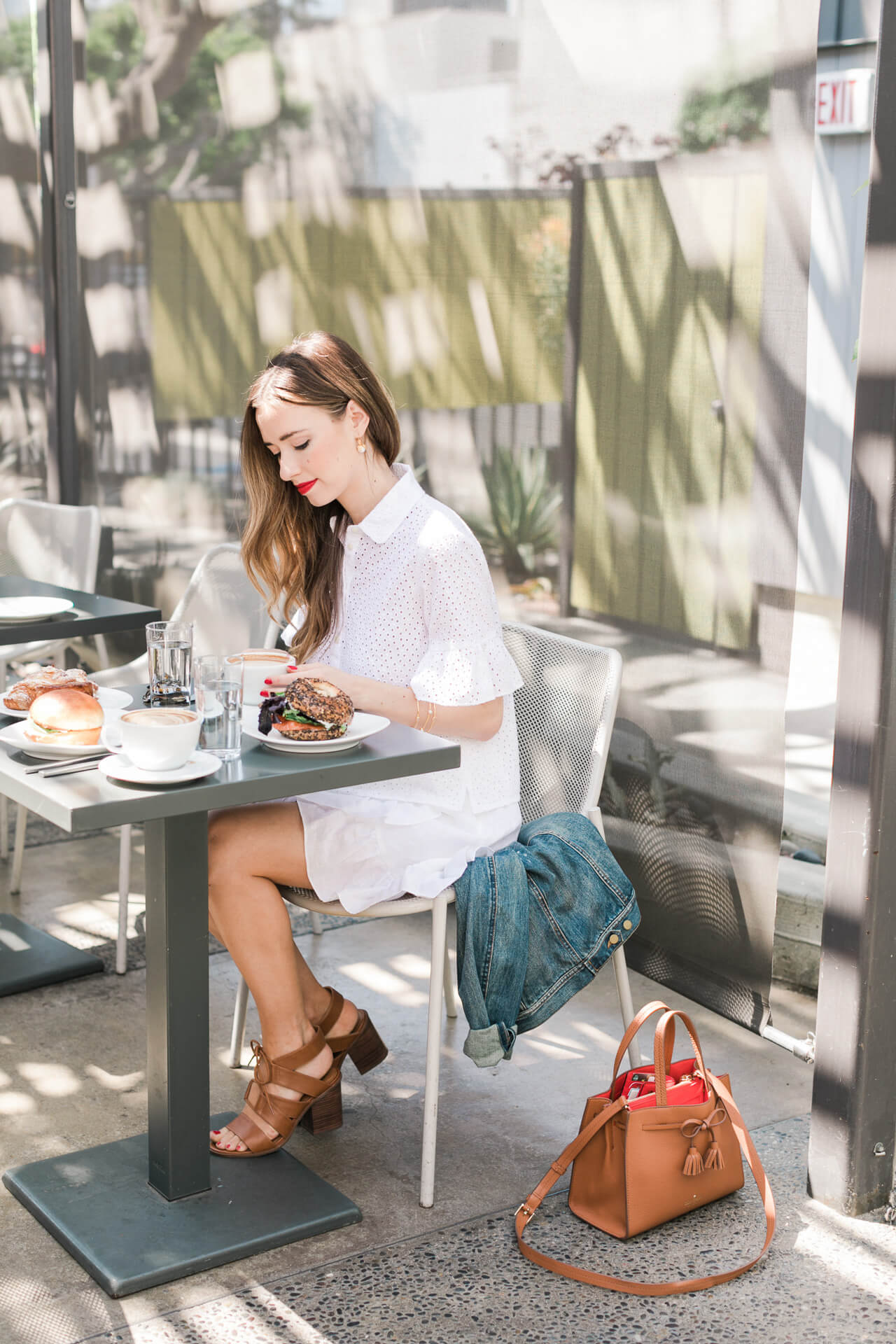 LA blogger Mara at the Rose Cafe in LA - M Loves M @marmar