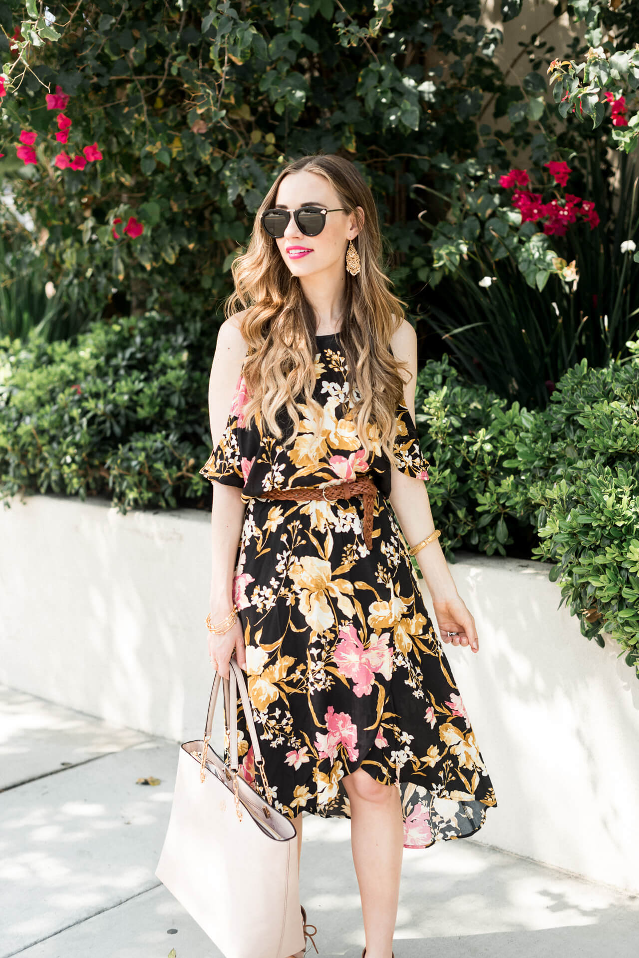 you have to get this dark floral wrap dress! It's on sale!