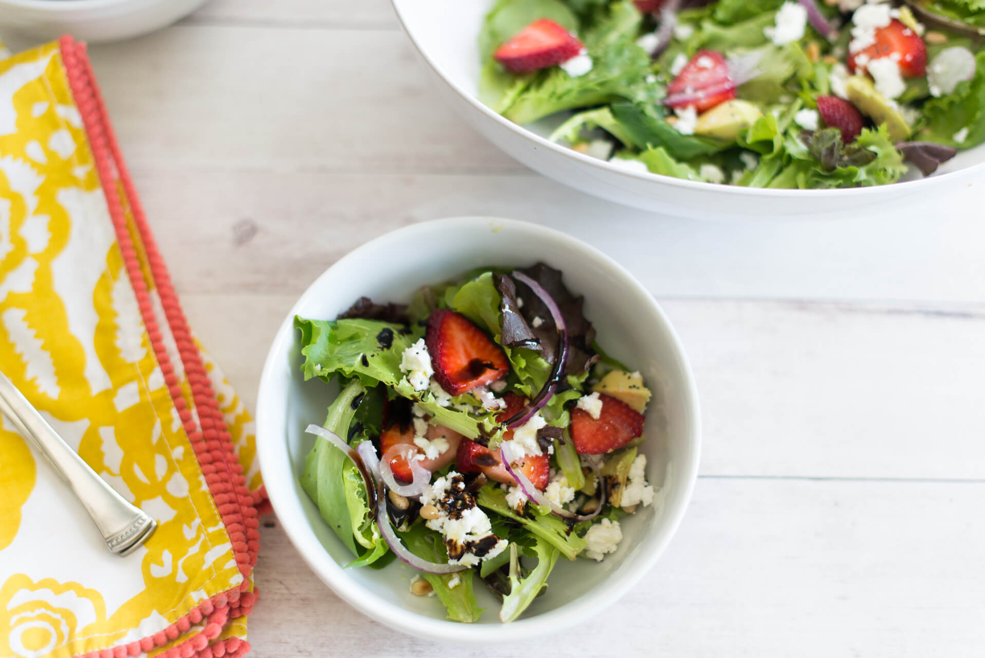 strawberries and feta are the perfect toppings to your salads for this Summer - M Loves M @marmar