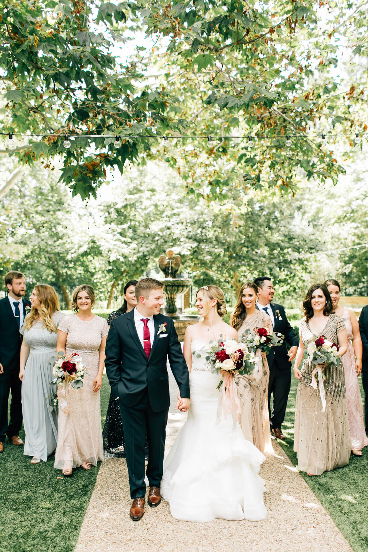 bridal party photo inspiration - summer los angeles wedding