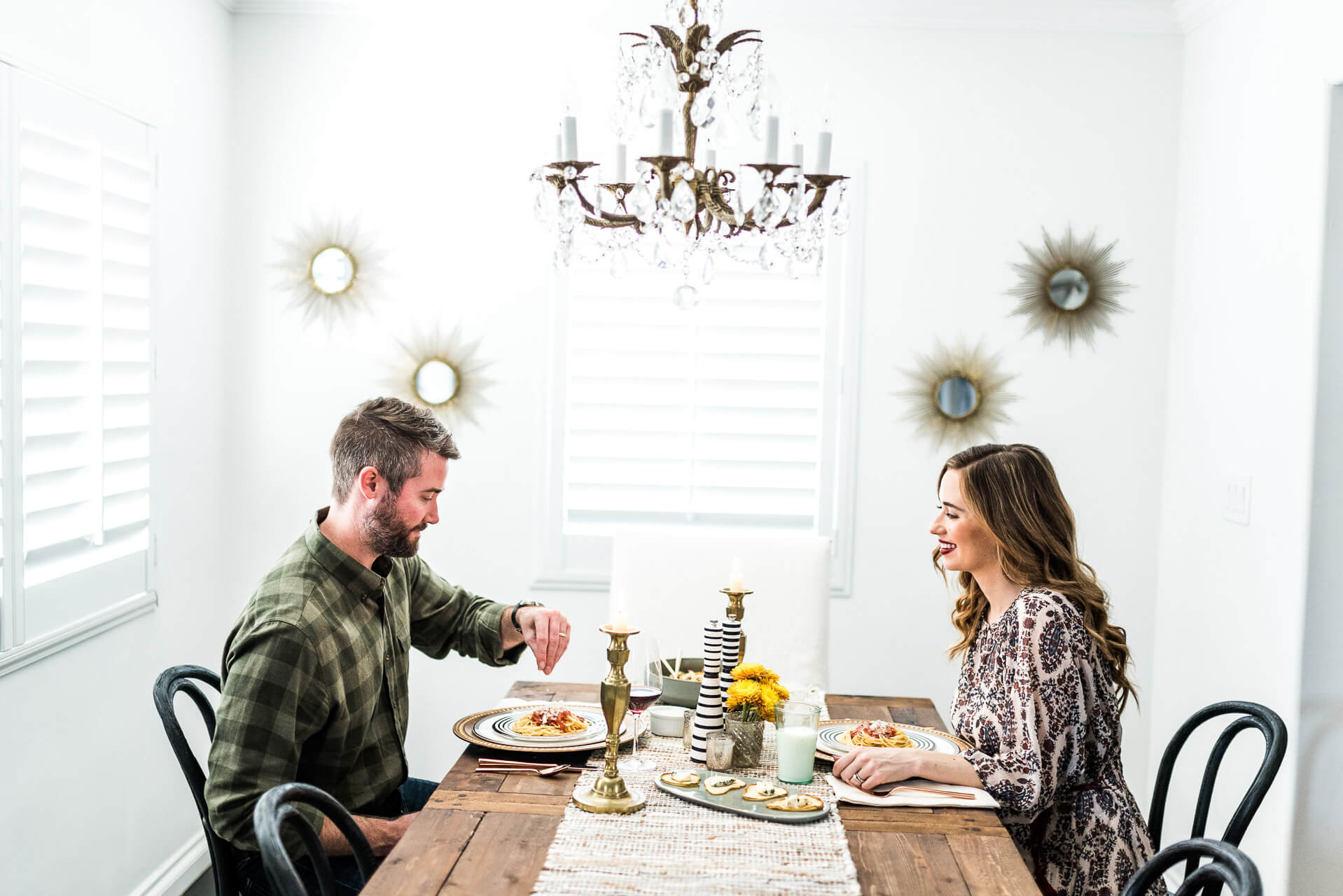 dinner date at home