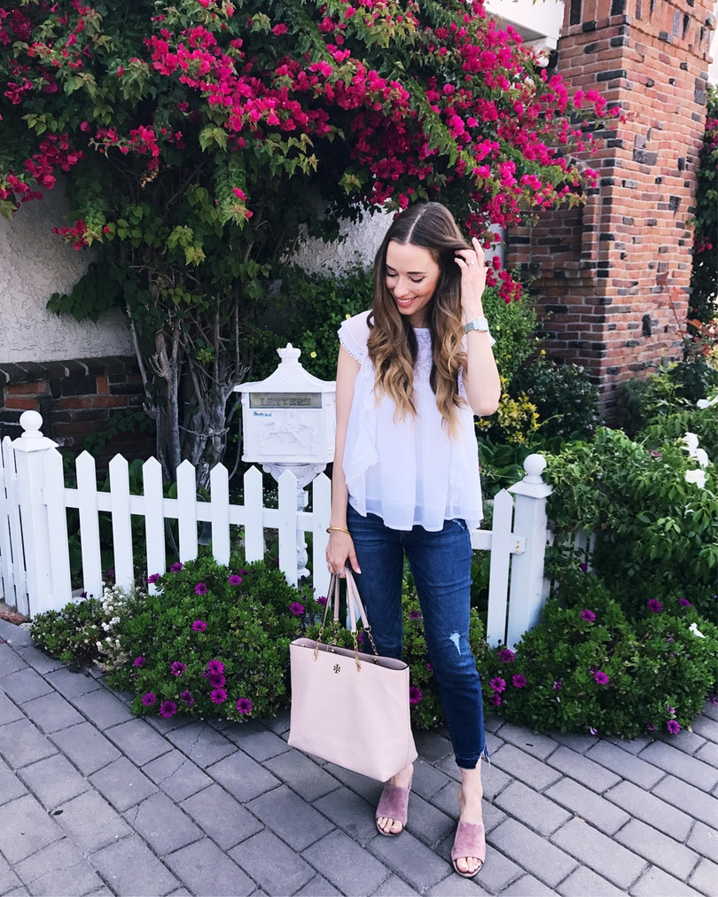 This flowy blouse is even prettier in person