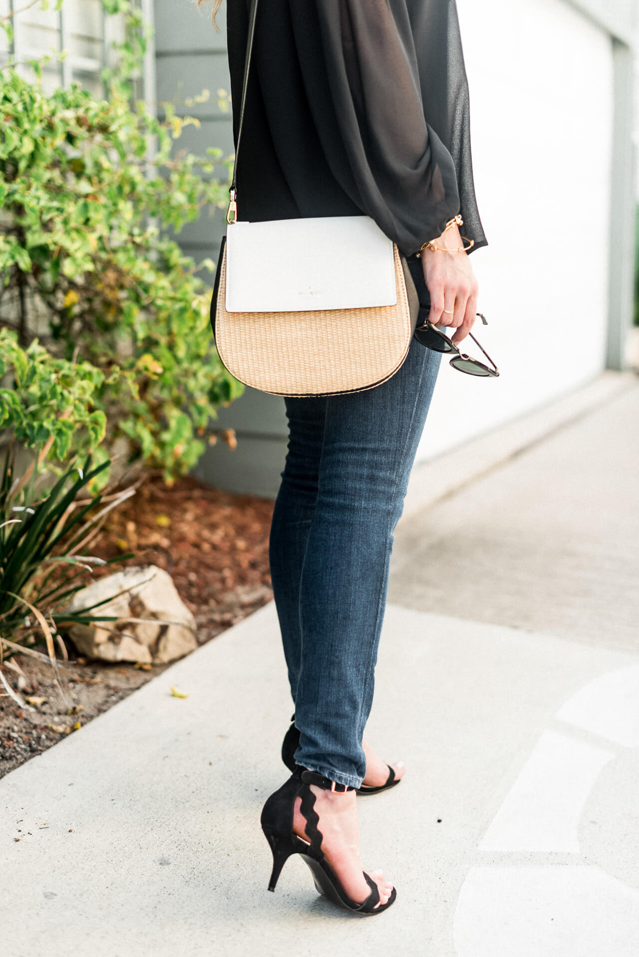 I've always used this bag for day-to-day outfits but love the contrast it brings for this night look - M Loves M @marmar