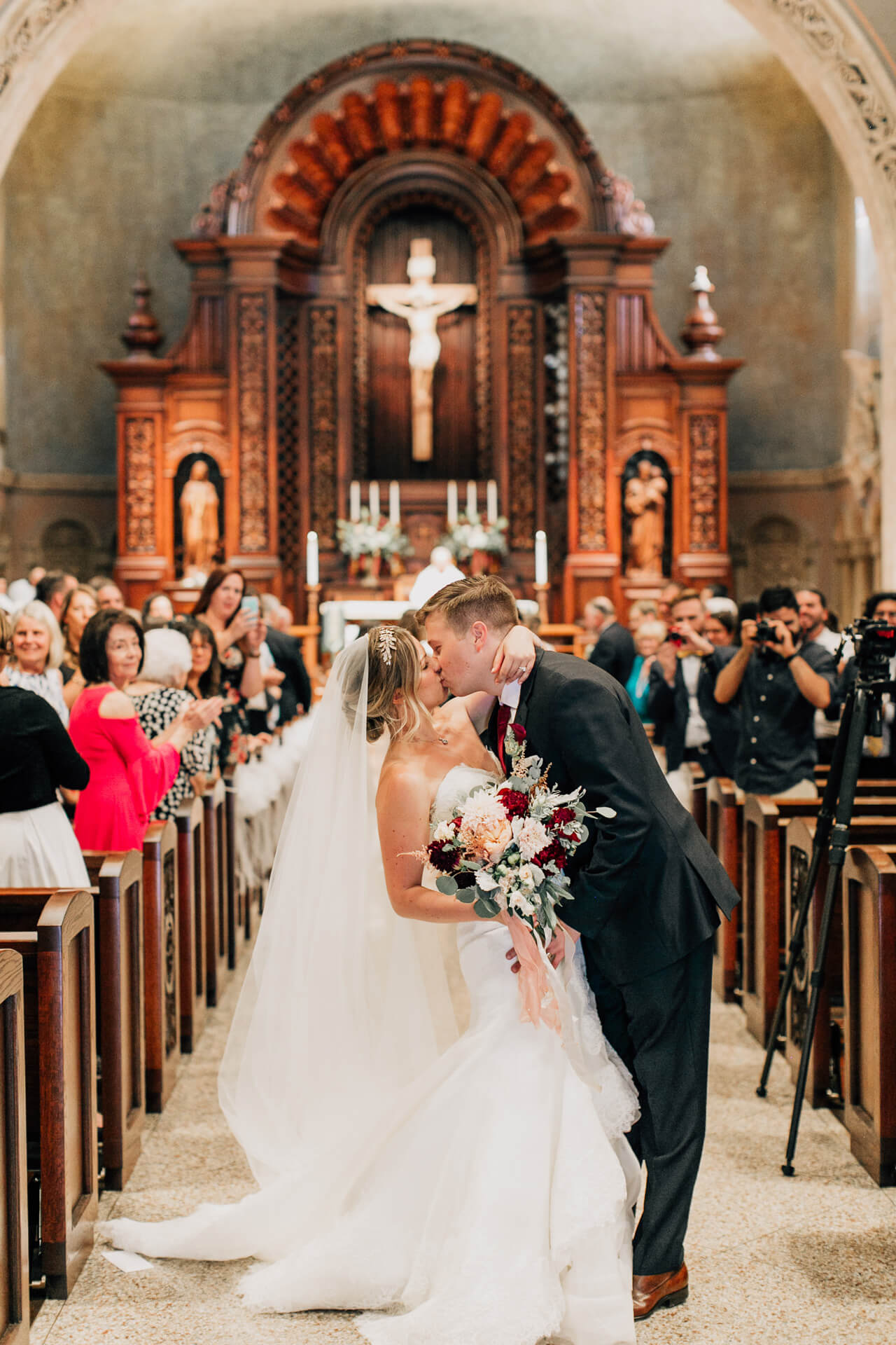 mcdevitt grady wedding at st. charles borromeo church