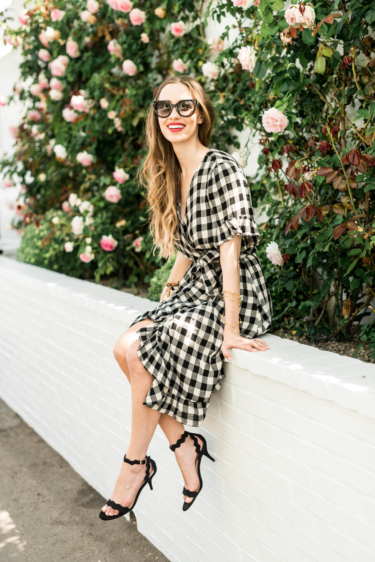 how cute is this gingham wrap dress - M Loves M @marmar