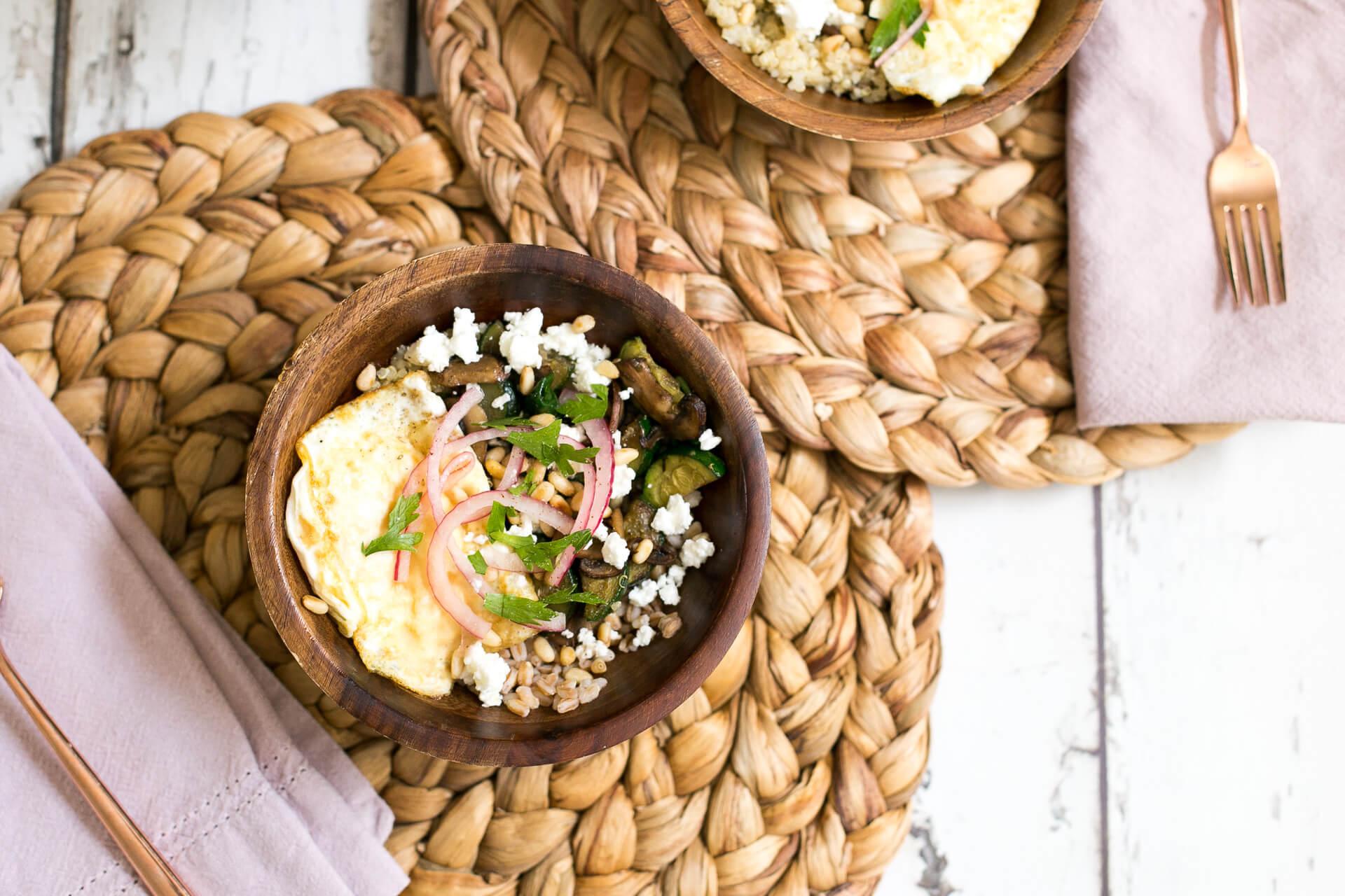 a gorgeous mushroom grain bowl - M Loves M @marmar
