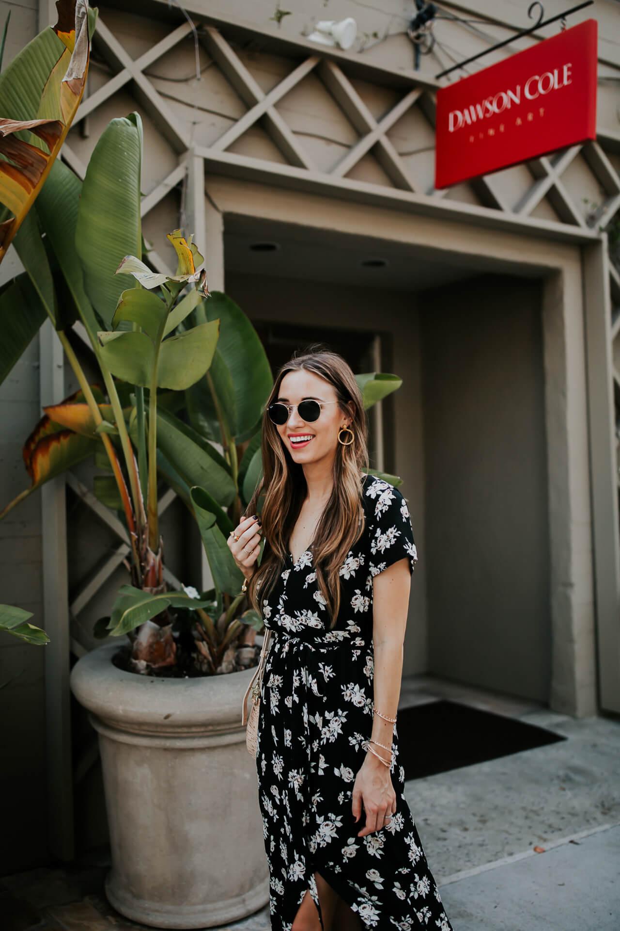 Gorgeous dark floral maxi dress for Fall - M Loves M @marmar