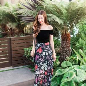 Lovely velvet and floral dress | M Loves M - @marmar
