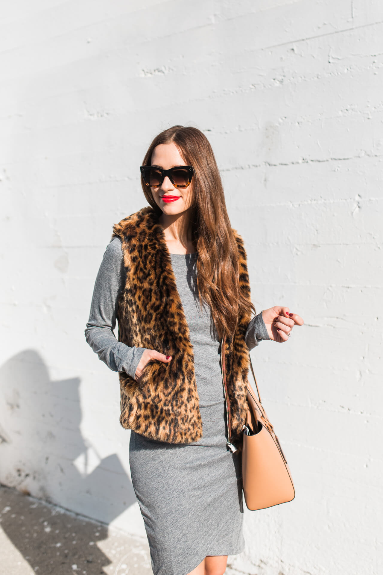 Styling a leopard print vest on the blog | M Loves M -@marmar
