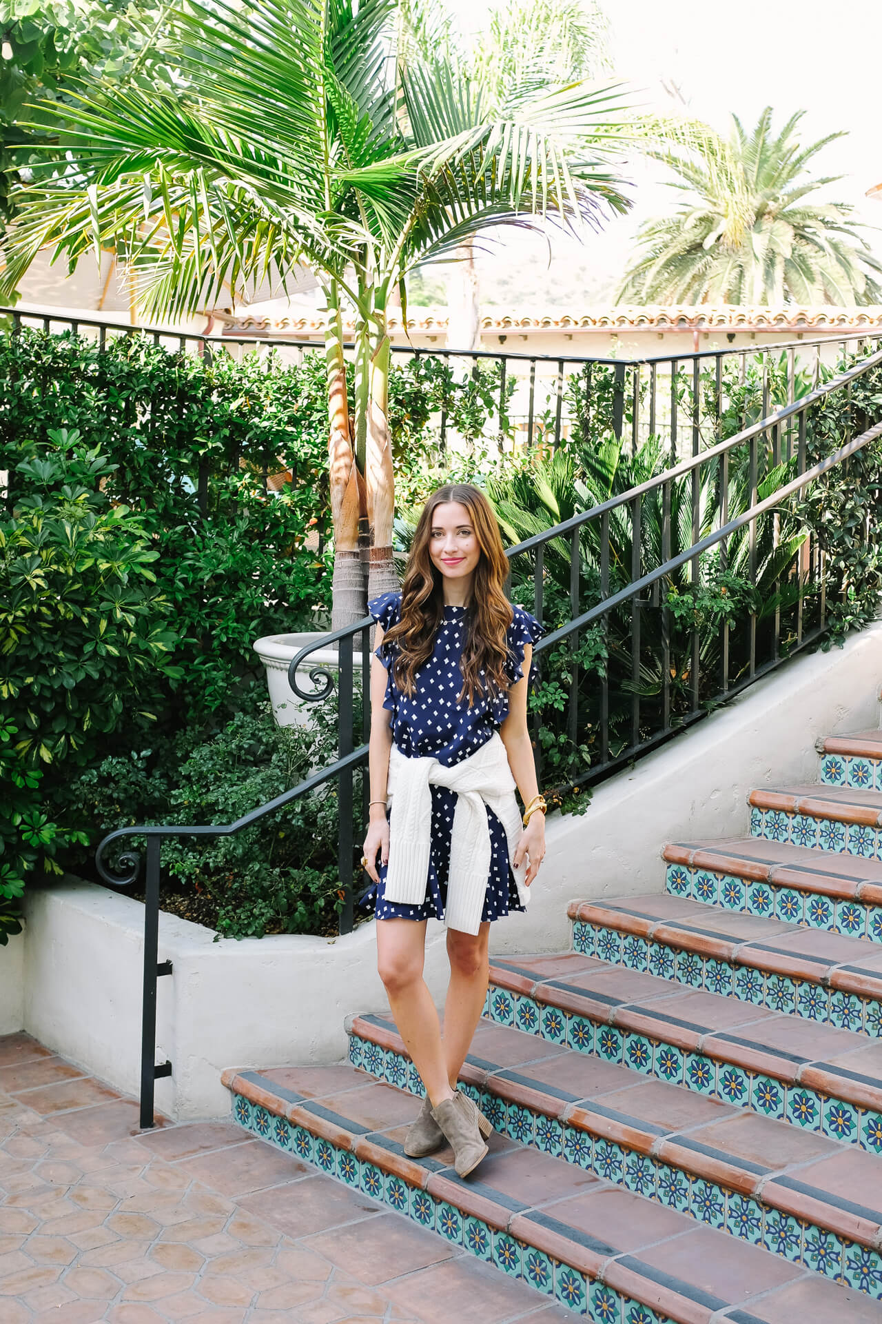 love this polka dot dress for warmer days like Southern California in October - M Loves M @marmar