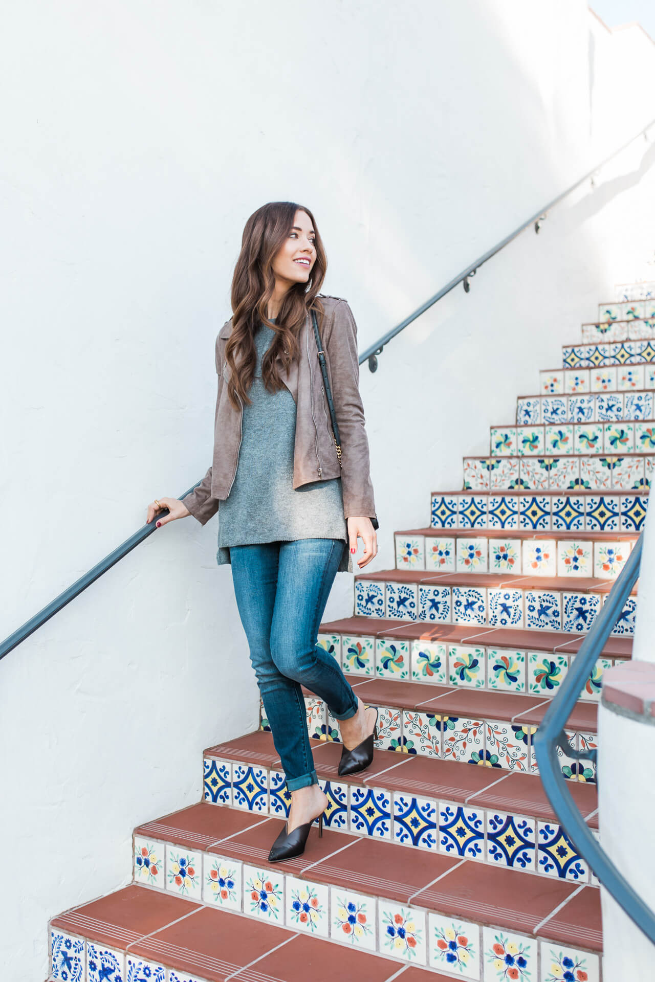 love this taupe suede moto jacket - M Loves M @marmar