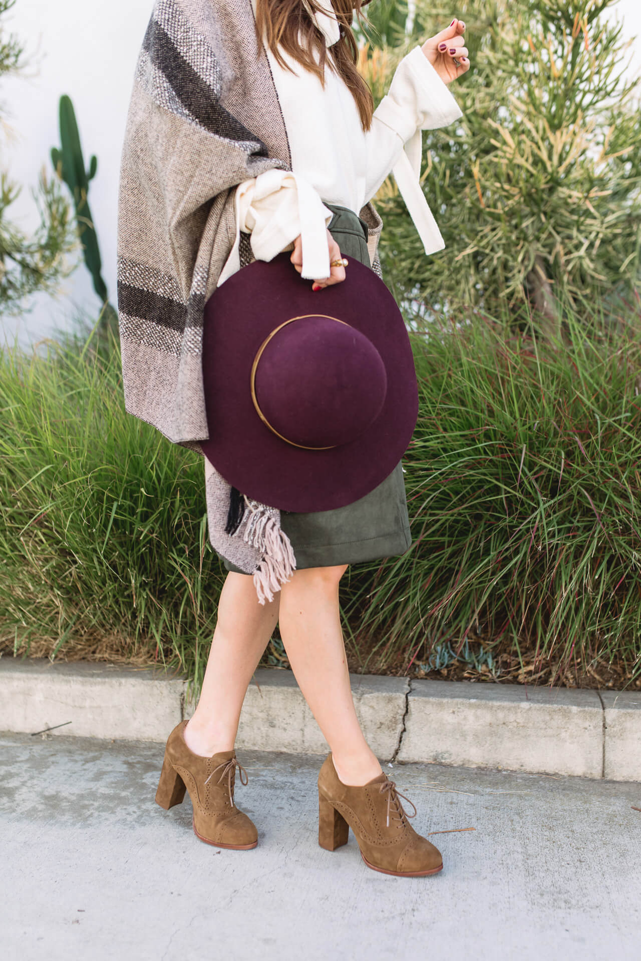 The perfect burgundy and olive green combination