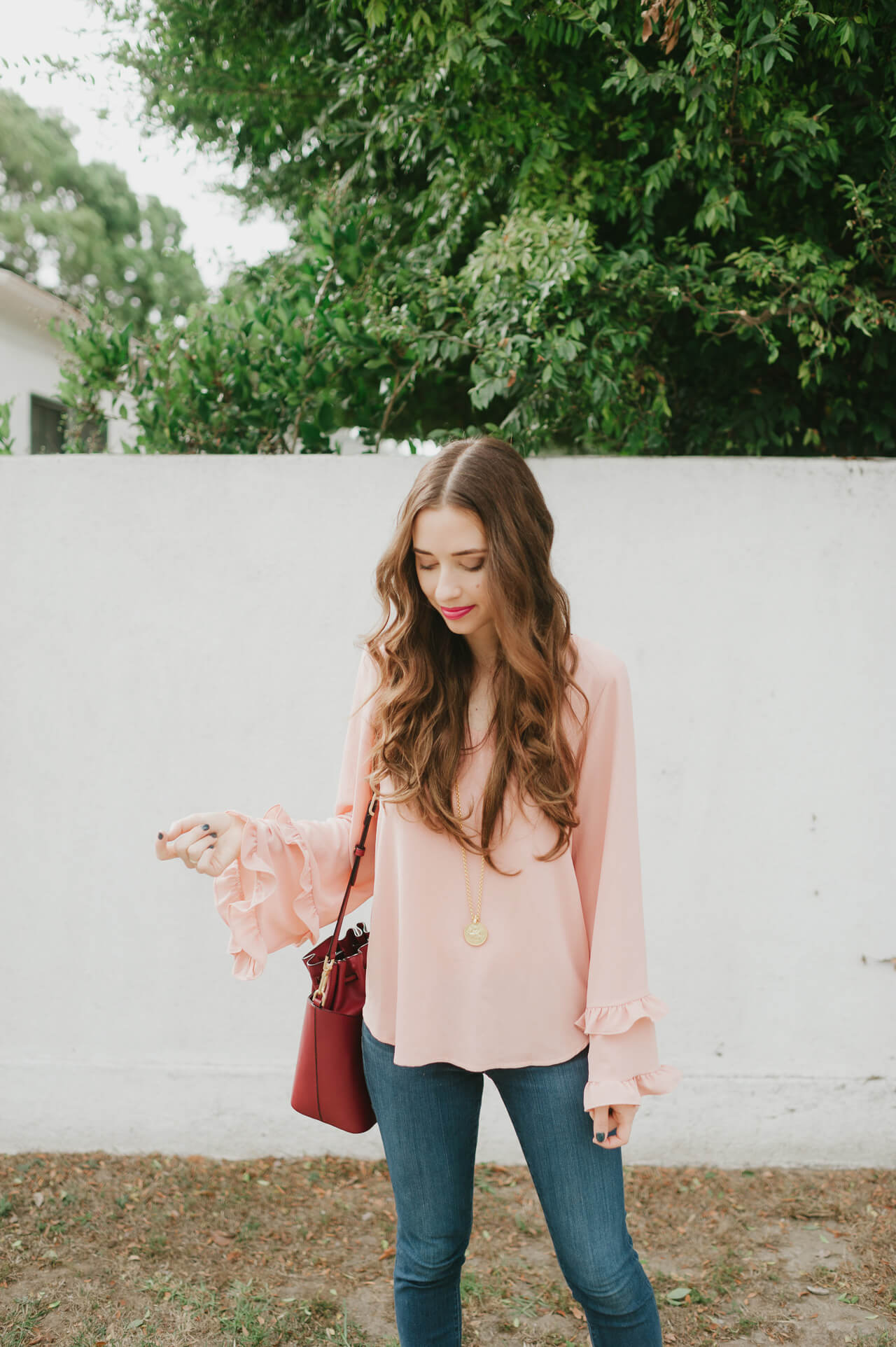 styling pink with burgundy M Loves M