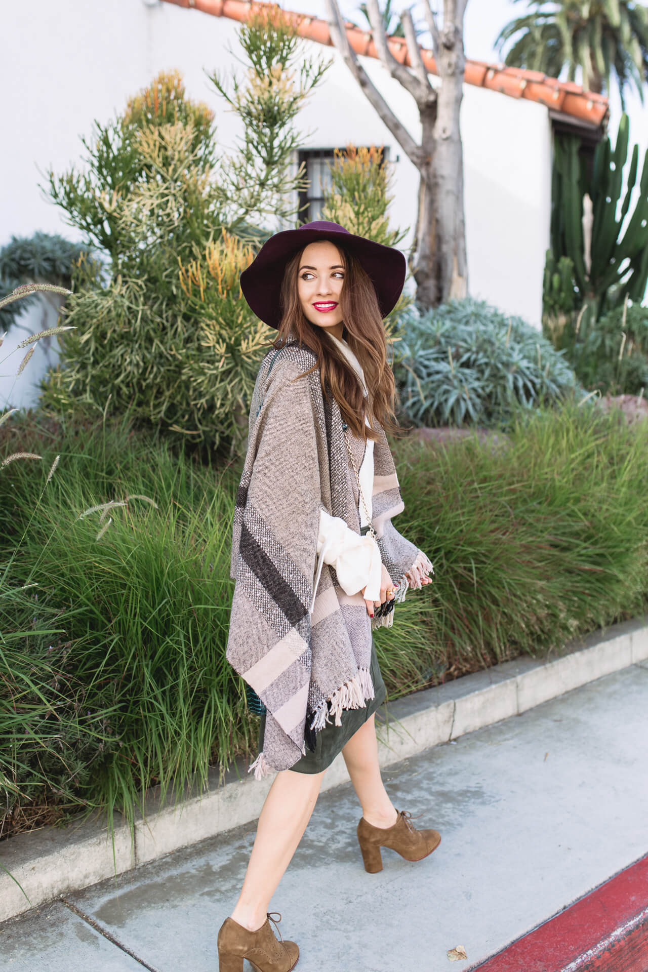 craving Fall weather in this plaid poncho - M Loves M @marmar